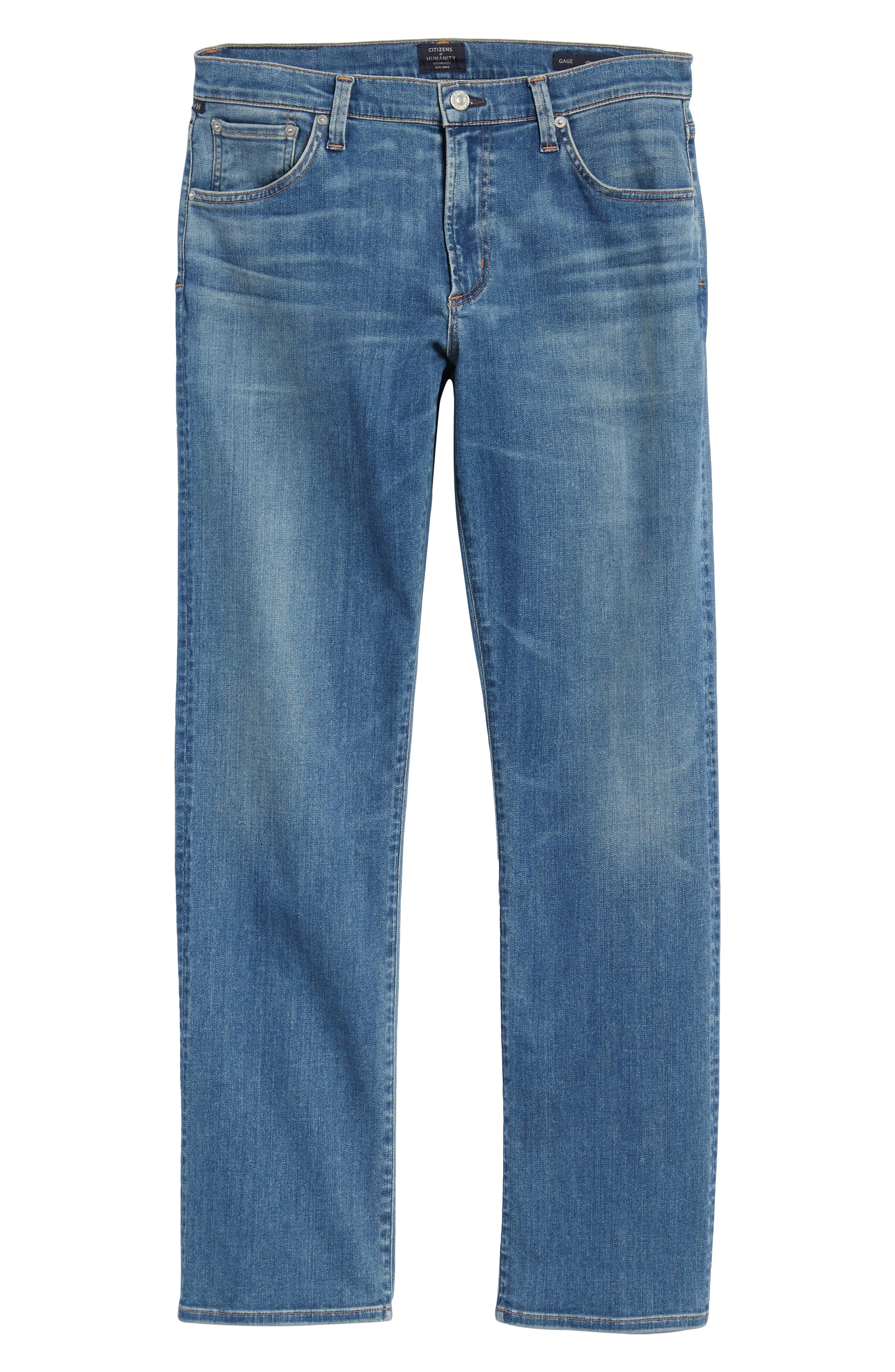 Perform - Gage Slim Straight Leg Jeans,                             Alternate thumbnail 6, color,                             456