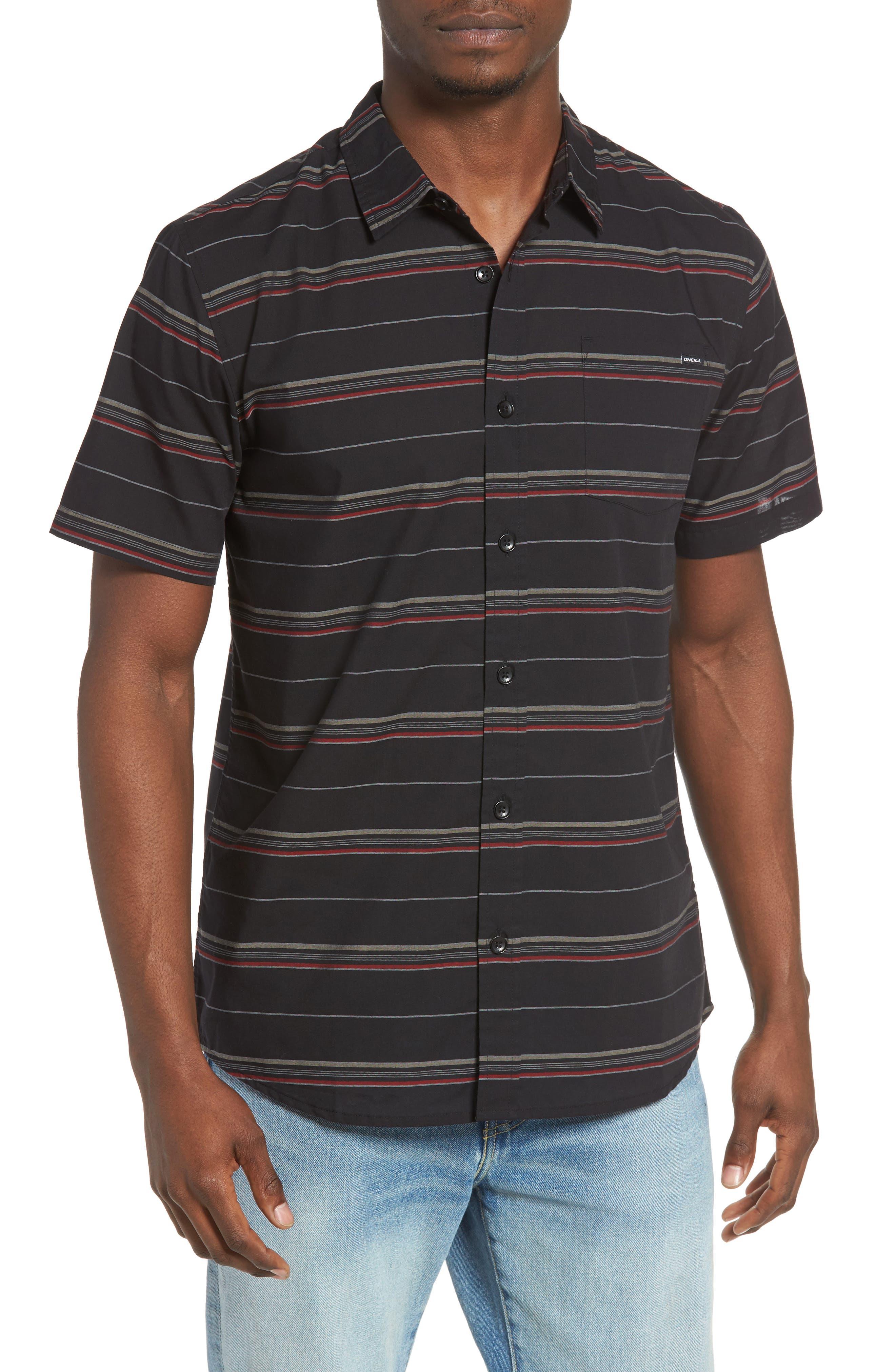 Striped Woven Shirt,                             Main thumbnail 2, color,