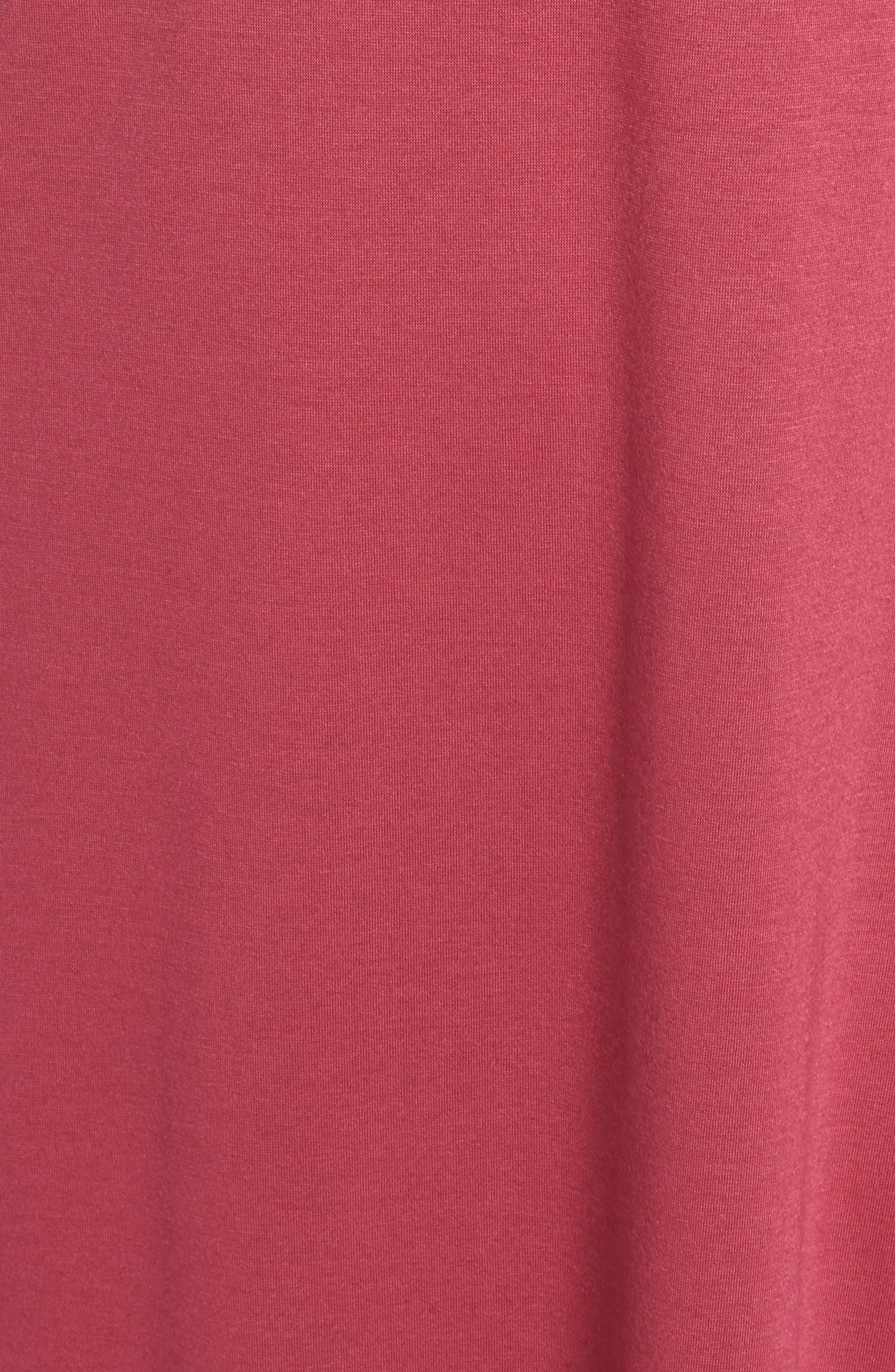 Shangri La Nightgown,                             Alternate thumbnail 5, color,                             RUB RUBY