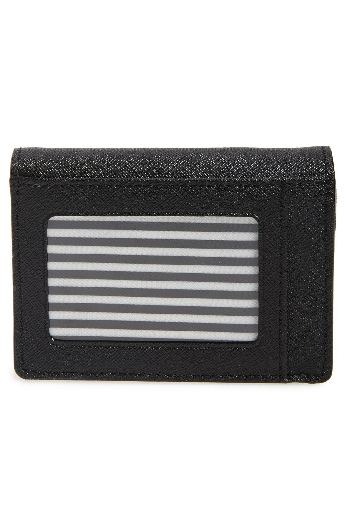KATE SPADE NEW YORK,                             'cameron street - beca' textured leather wallet,                             Alternate thumbnail 4, color,                             001