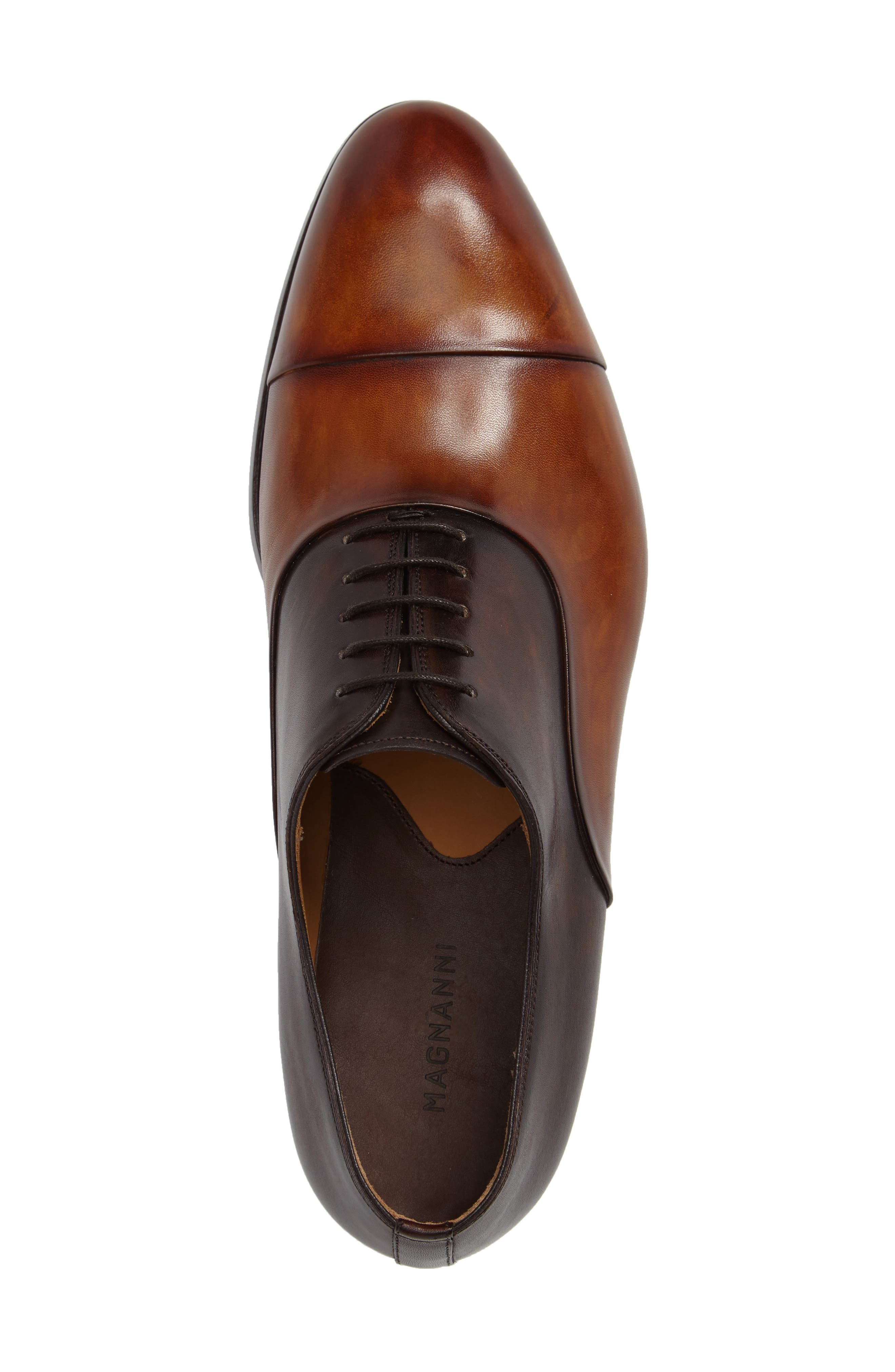 Golay Cap Toe Oxford,                             Alternate thumbnail 3, color,                             CUERO LEATHER