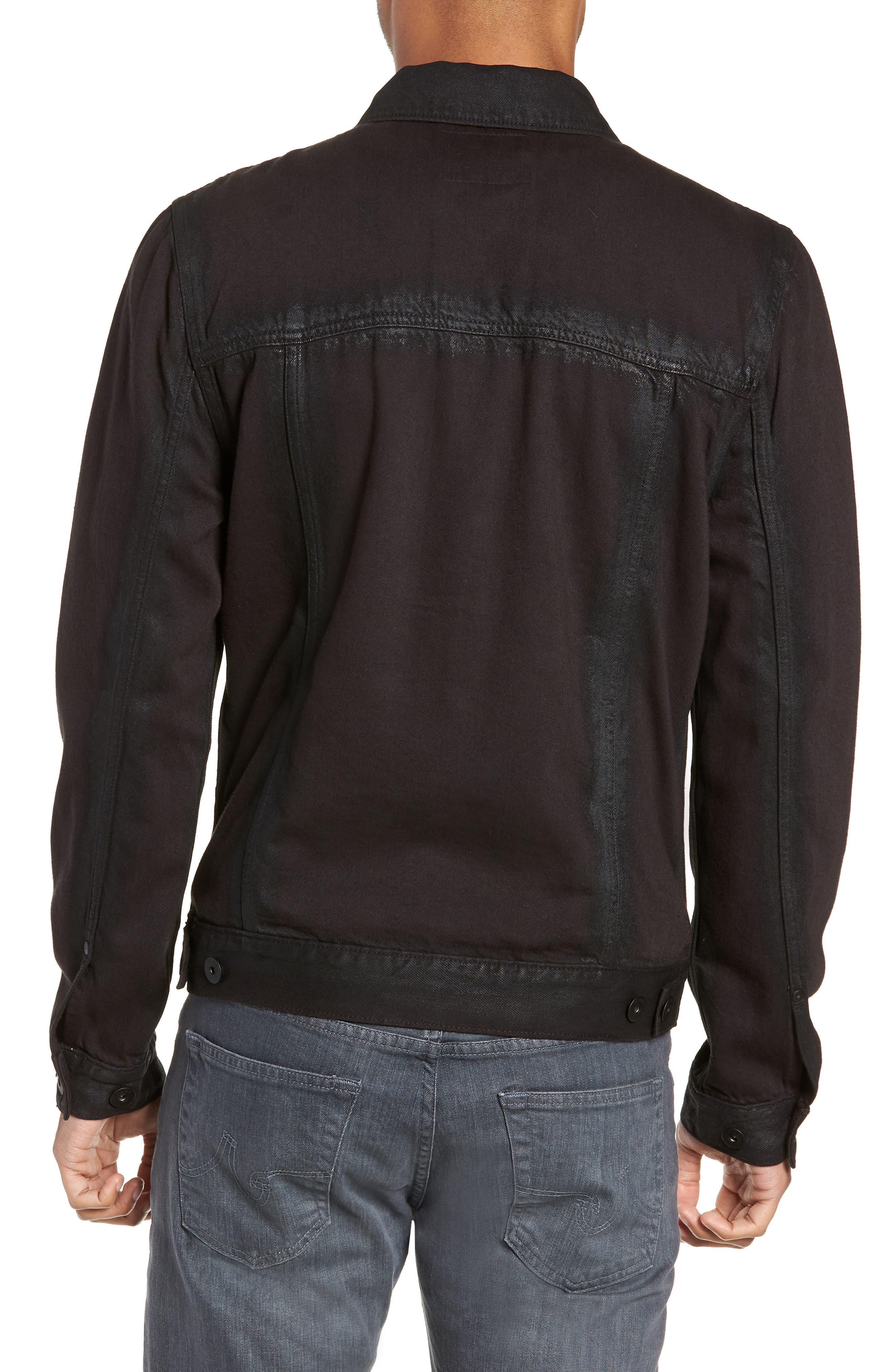 Scout Denim Jacket,                             Alternate thumbnail 2, color,                             VIVID BLACK COATED