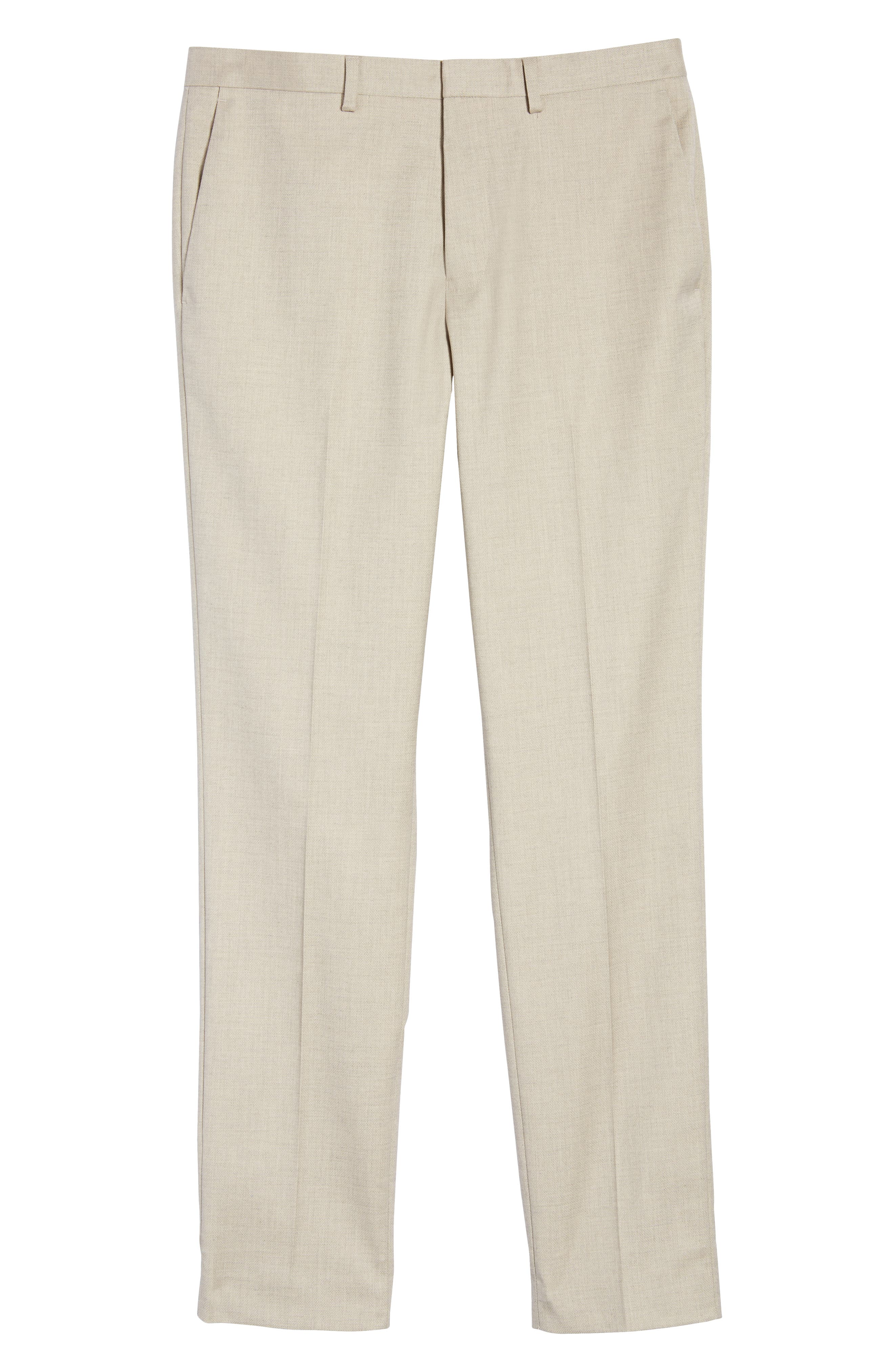 Skinny Fit Suit Trousers,                             Alternate thumbnail 6, color,                             STONE