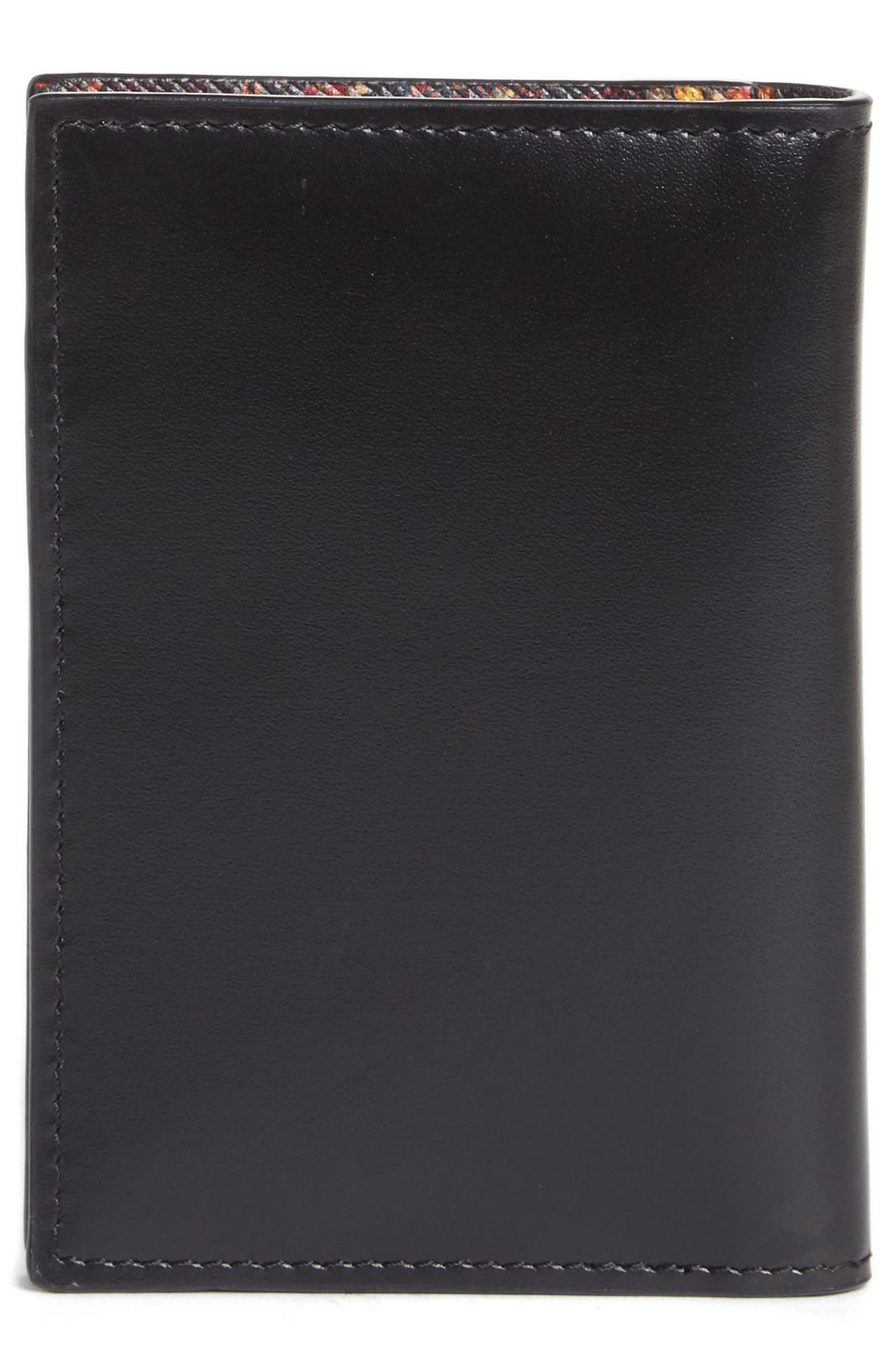 Horniman Print Leather Wallet,                             Alternate thumbnail 3, color,                             001