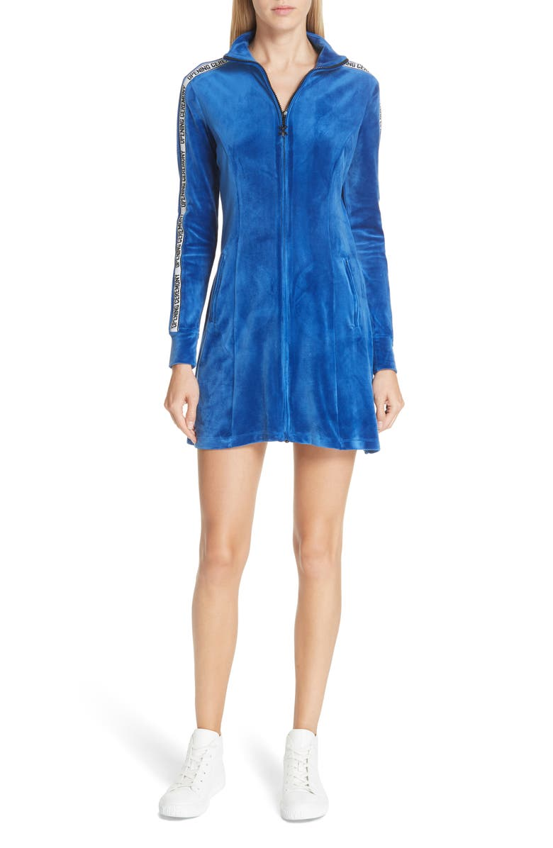 Opening Ceremony LOGO TRIM VELOUR DRESS