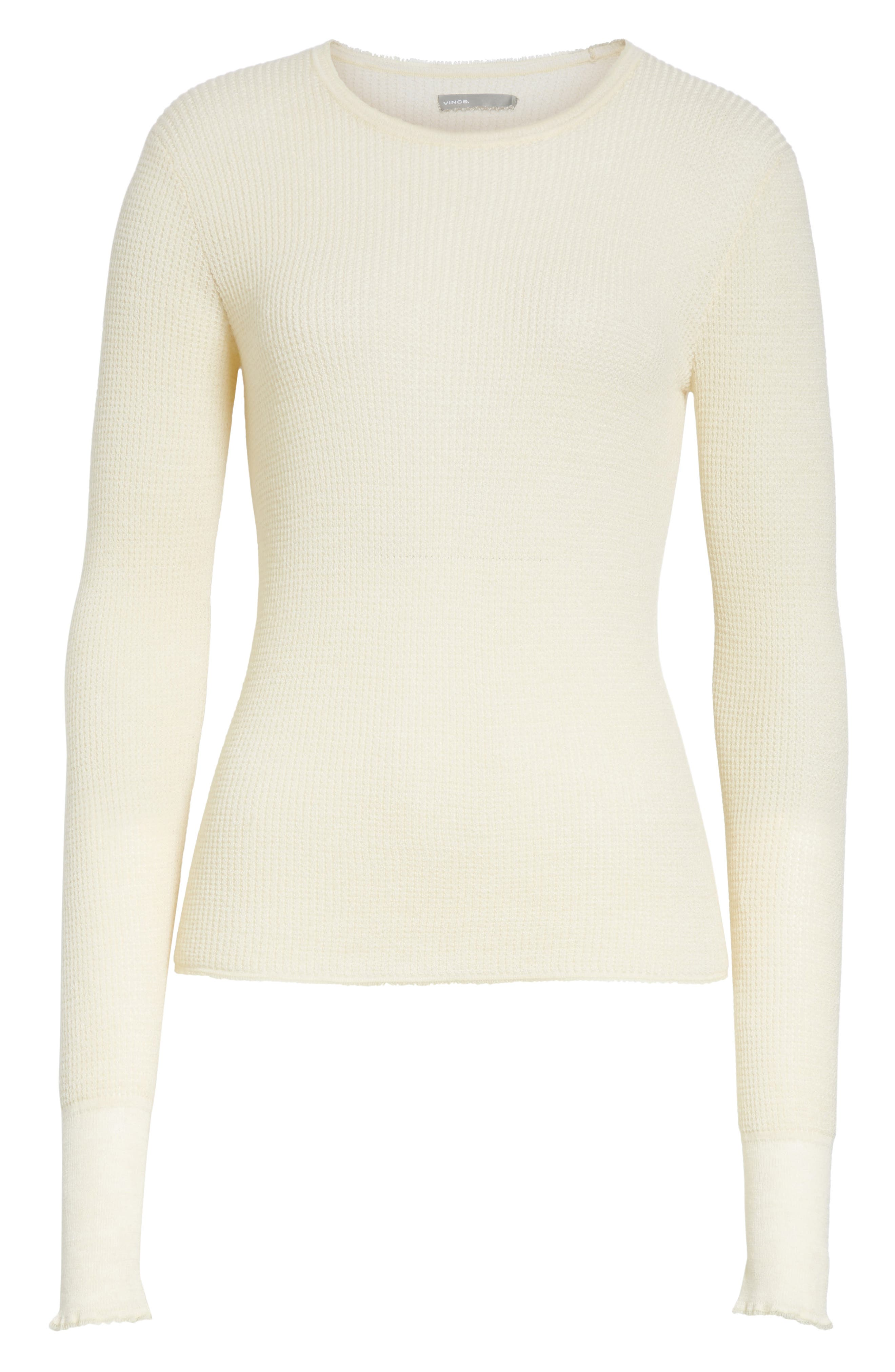 Waffle Knit Wool & Cashmere Top,                             Alternate thumbnail 12, color,