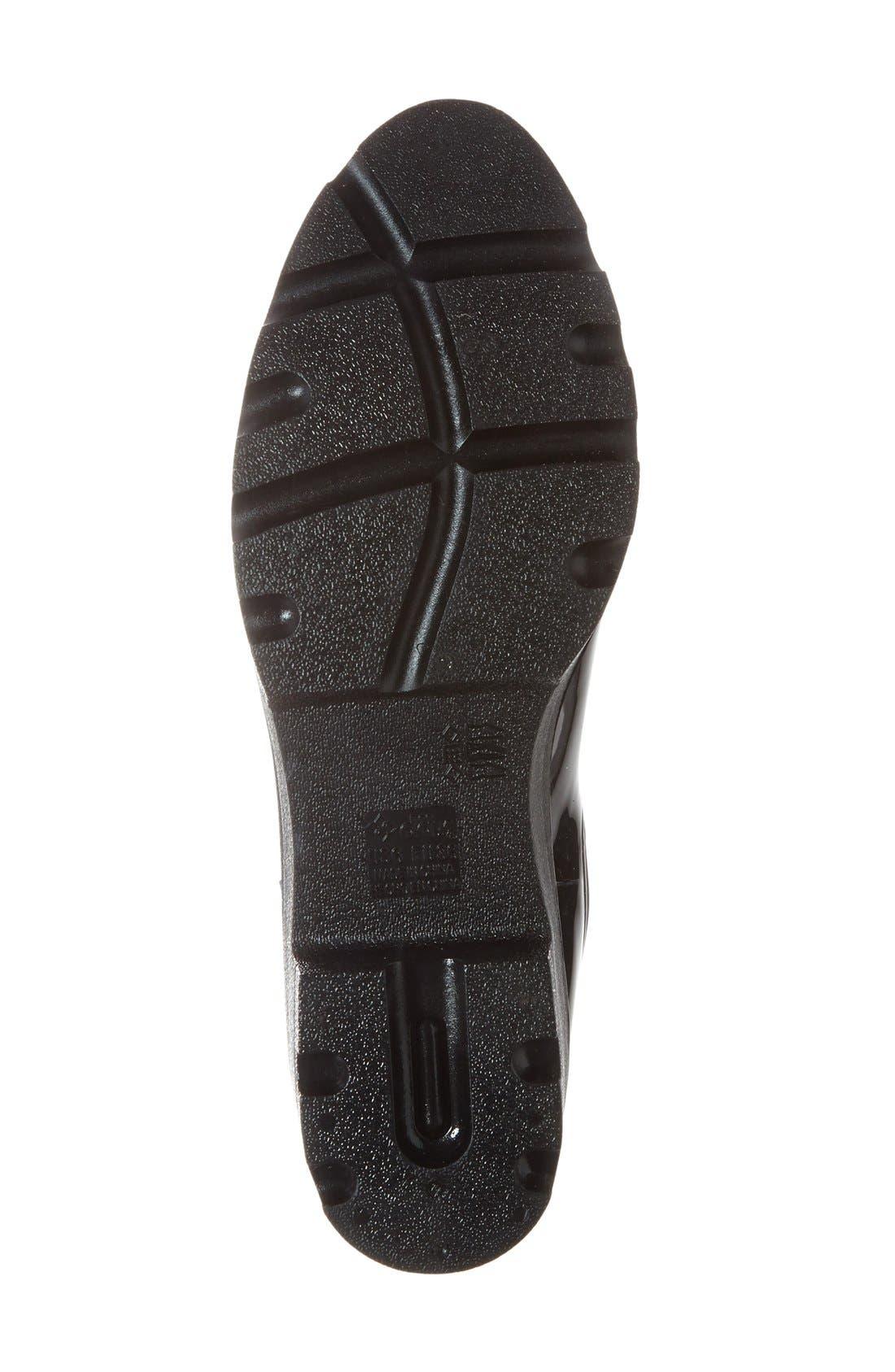 'Prague' Waterproof Chelsea Rain Boot,                             Alternate thumbnail 4, color,                             001