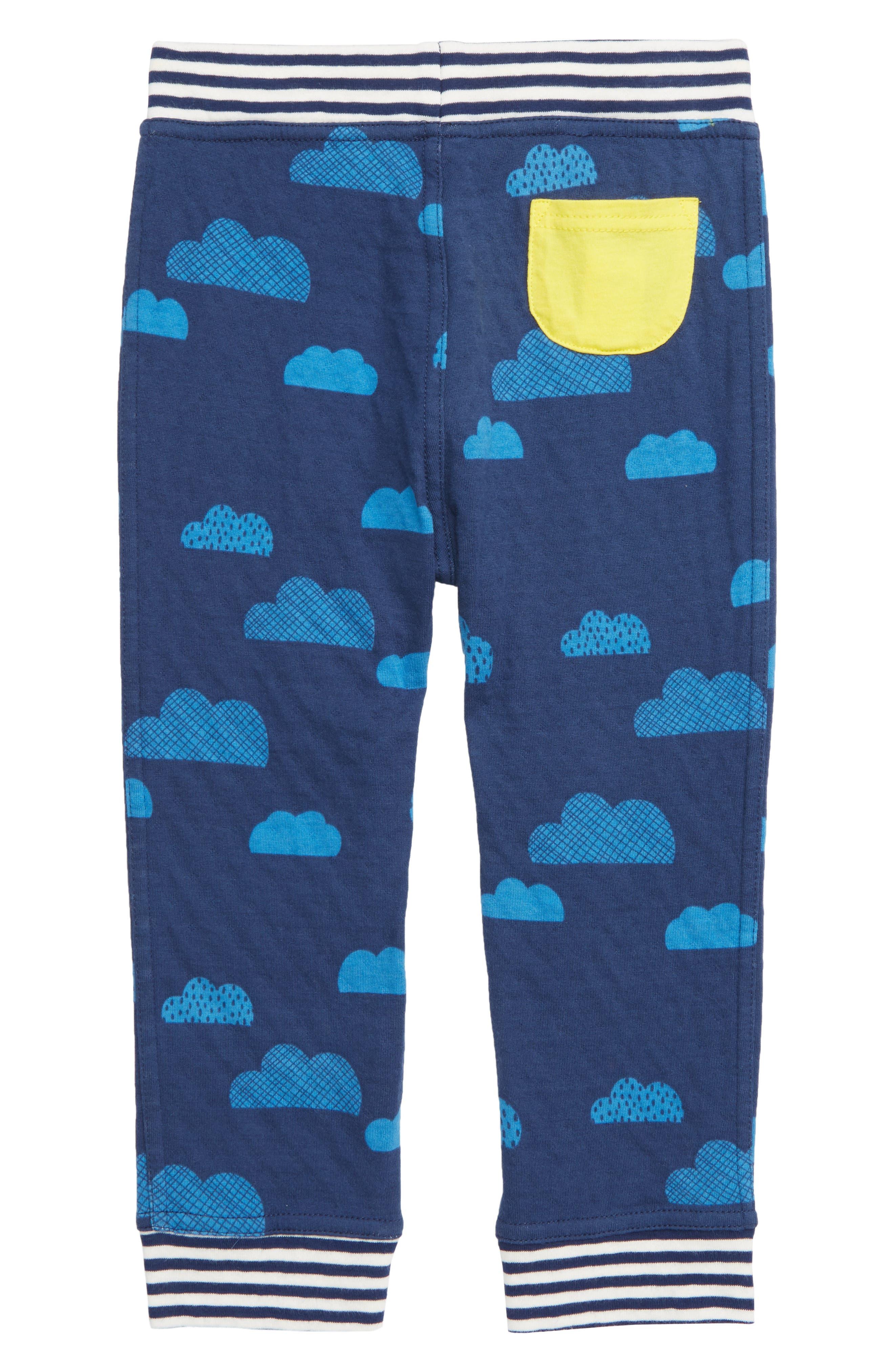 Reversible Print Pants,                             Alternate thumbnail 2, color,                             NAV COLLEGE BLUE CLOUDS