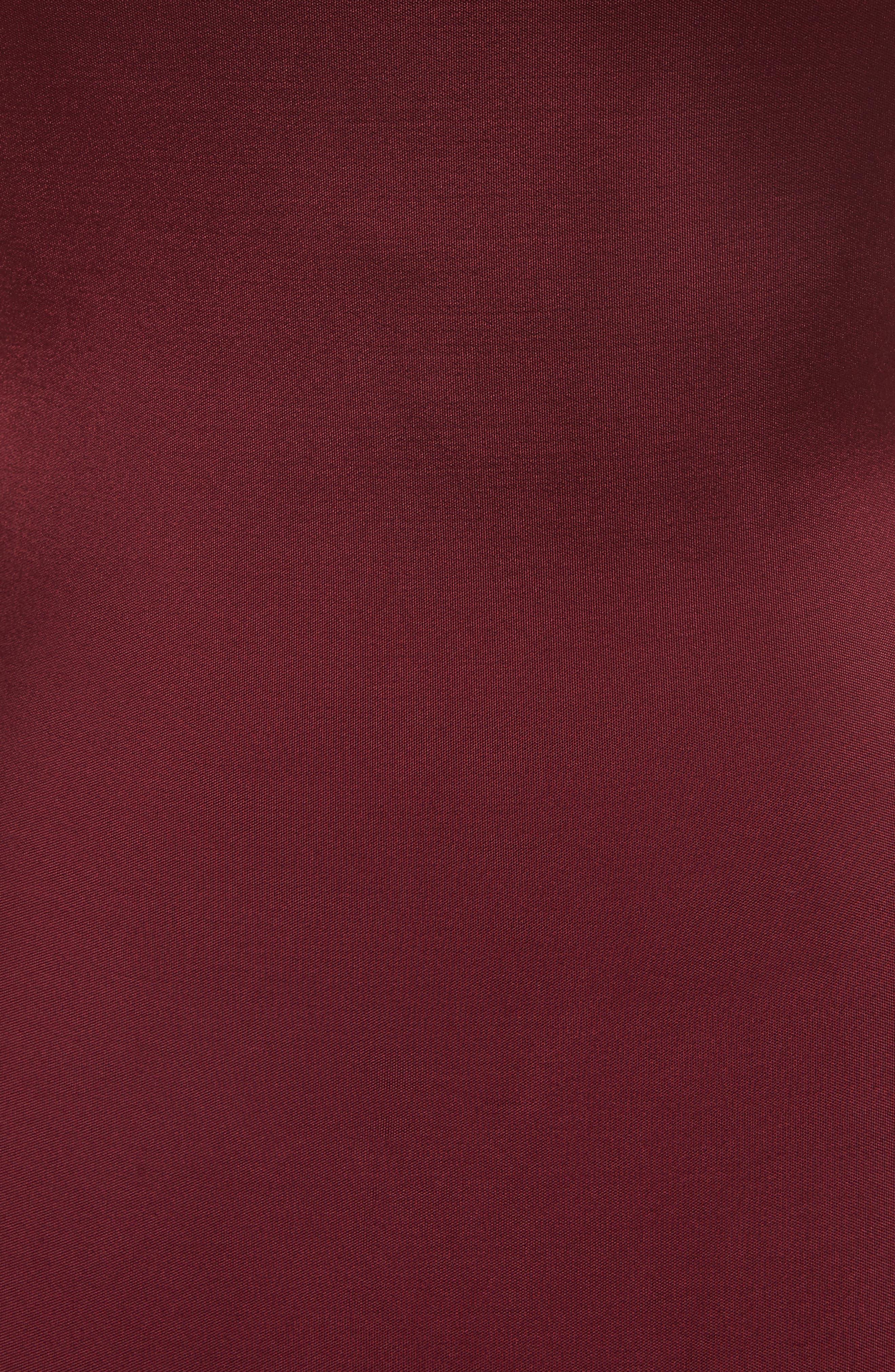 One-Shoulder Twist Gown,                             Alternate thumbnail 6, color,                             AUBURN