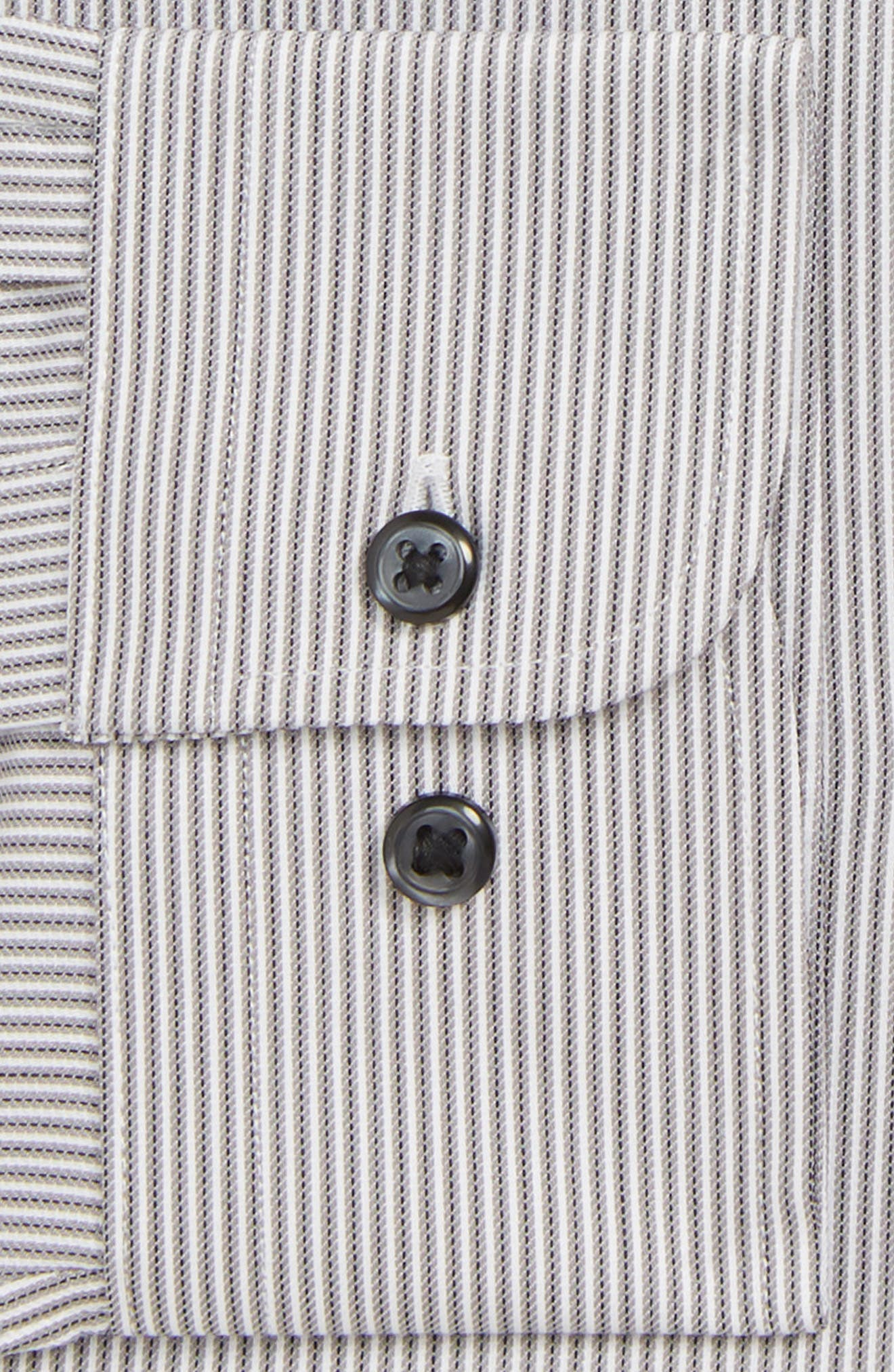 Tech-Smart Traditional Fit Stripe Stretch Dress Shirt,                             Alternate thumbnail 2, color,                             GREY ONYX