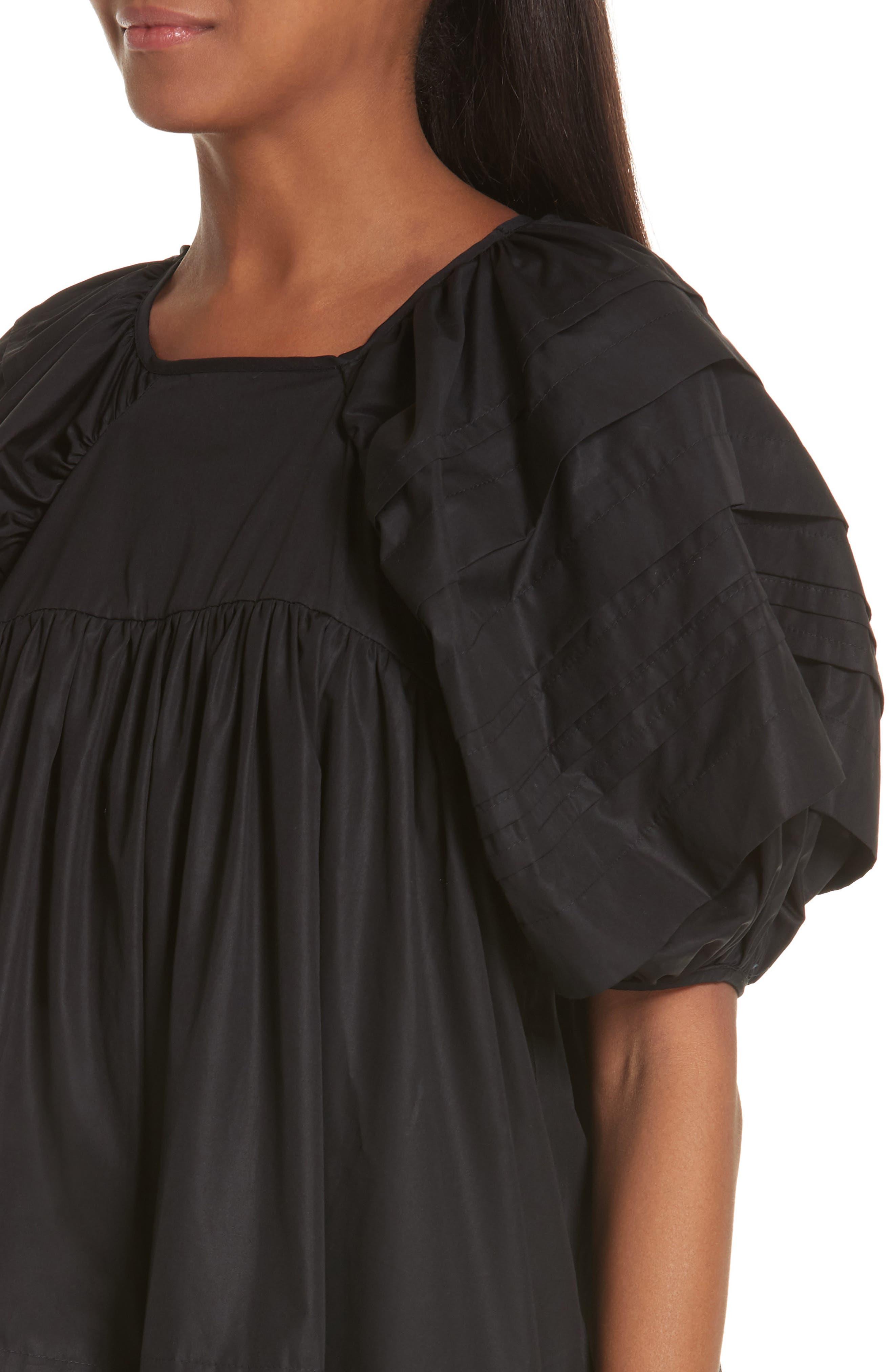 CECILIE BAHNSEN,                             Phoebe Dress,                             Alternate thumbnail 5, color,                             BLACK