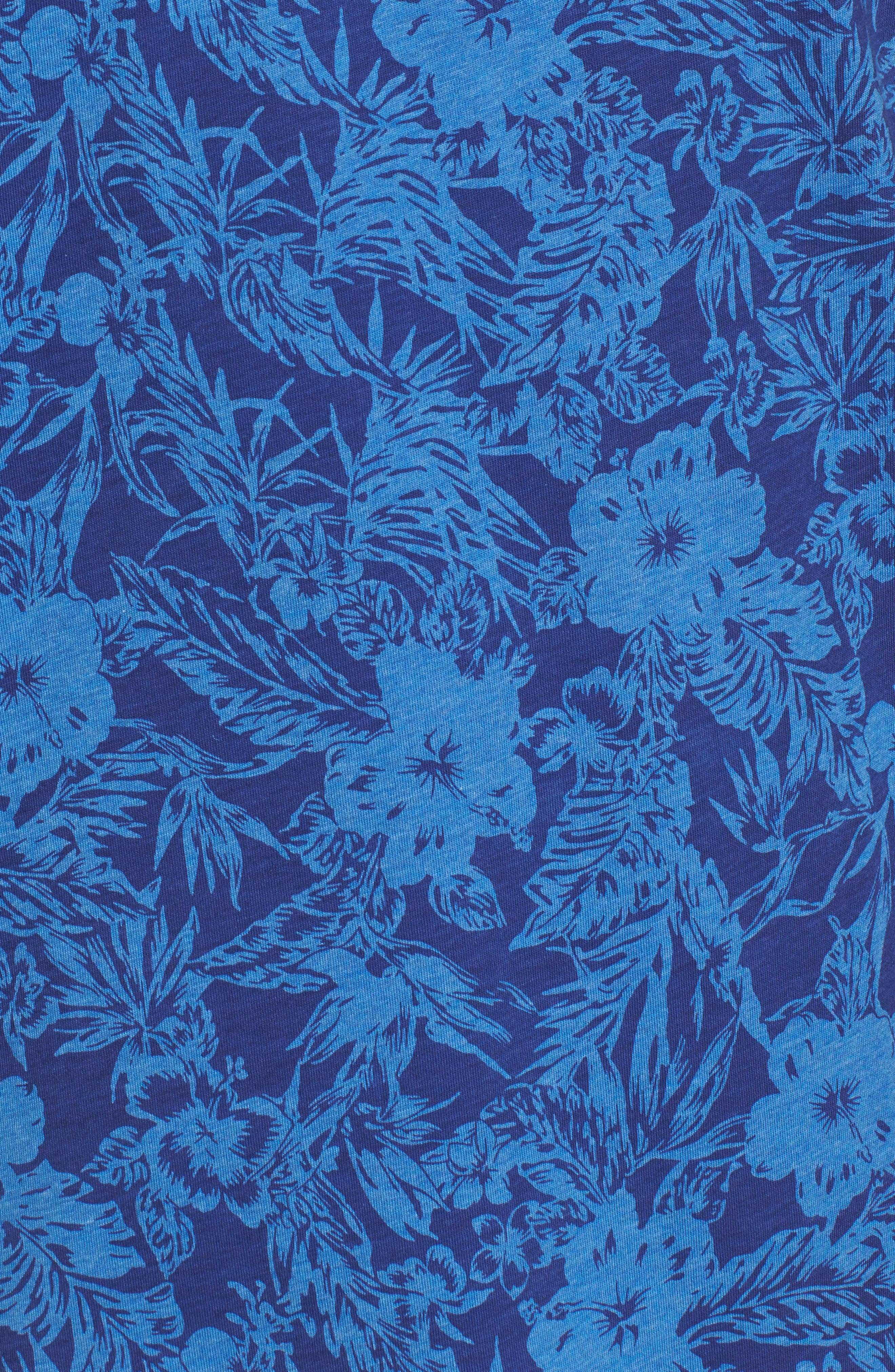Crown Floral Cotton & Silk Polo Shirt,                             Alternate thumbnail 5, color,                             400