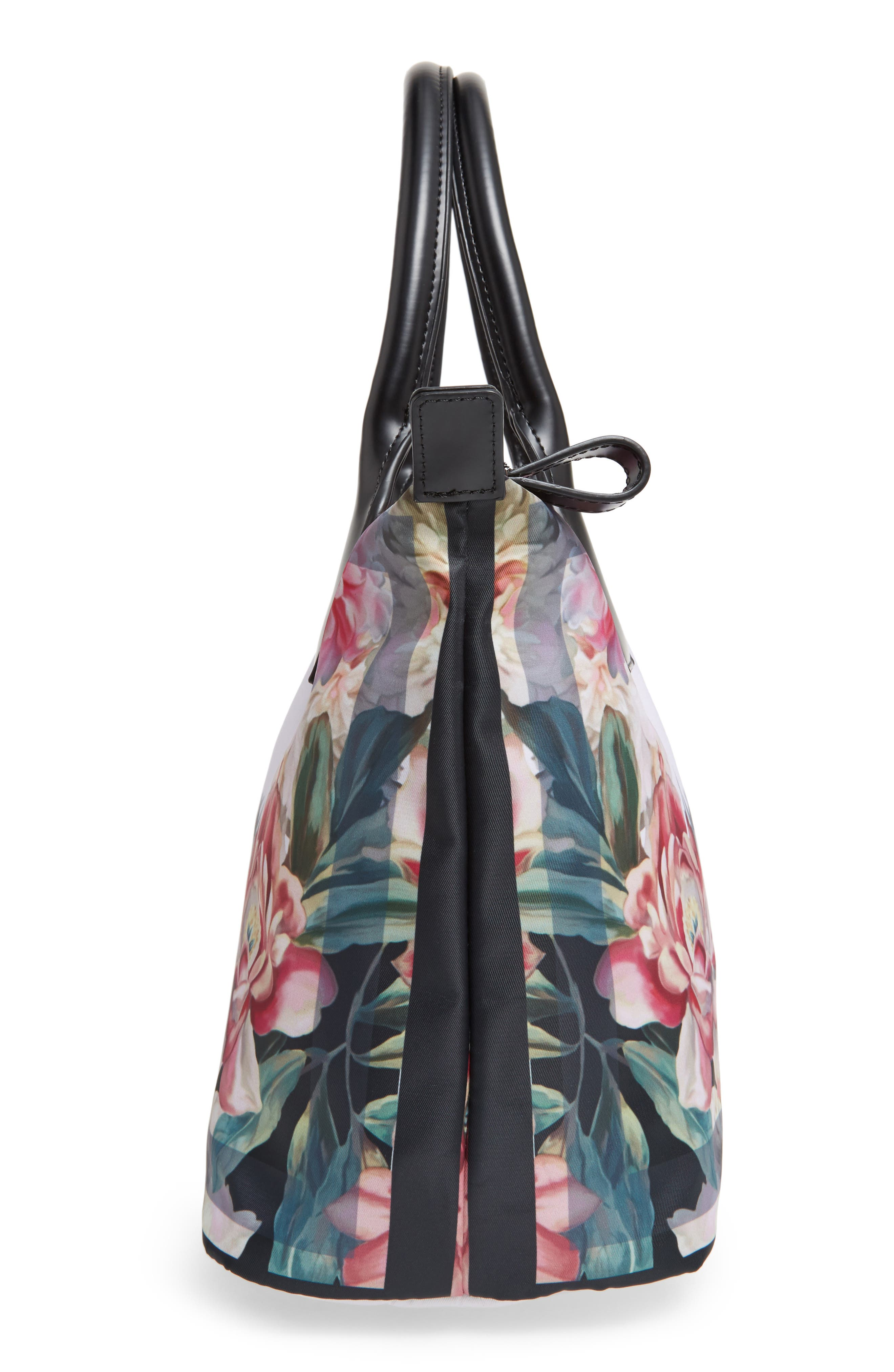 Small Painted Posie Tote,                             Alternate thumbnail 5, color,                             682