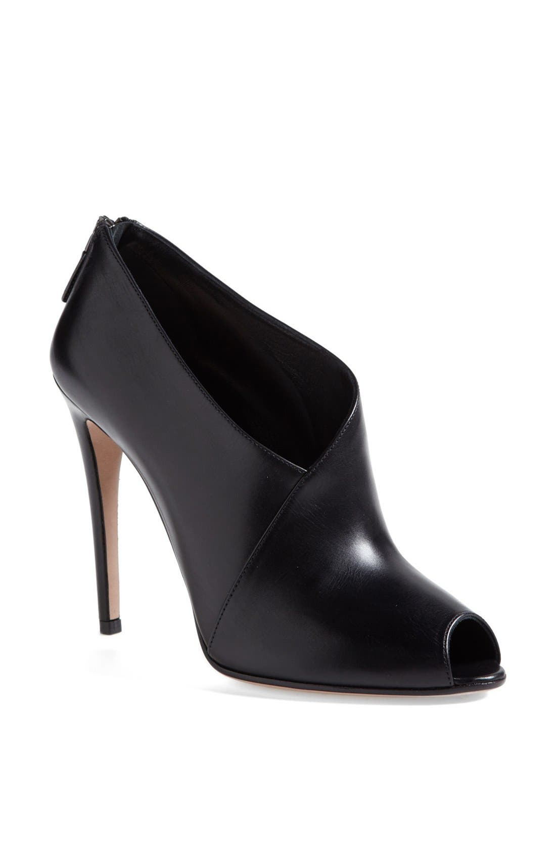 Peep Toe Bootie, Main, color, 001