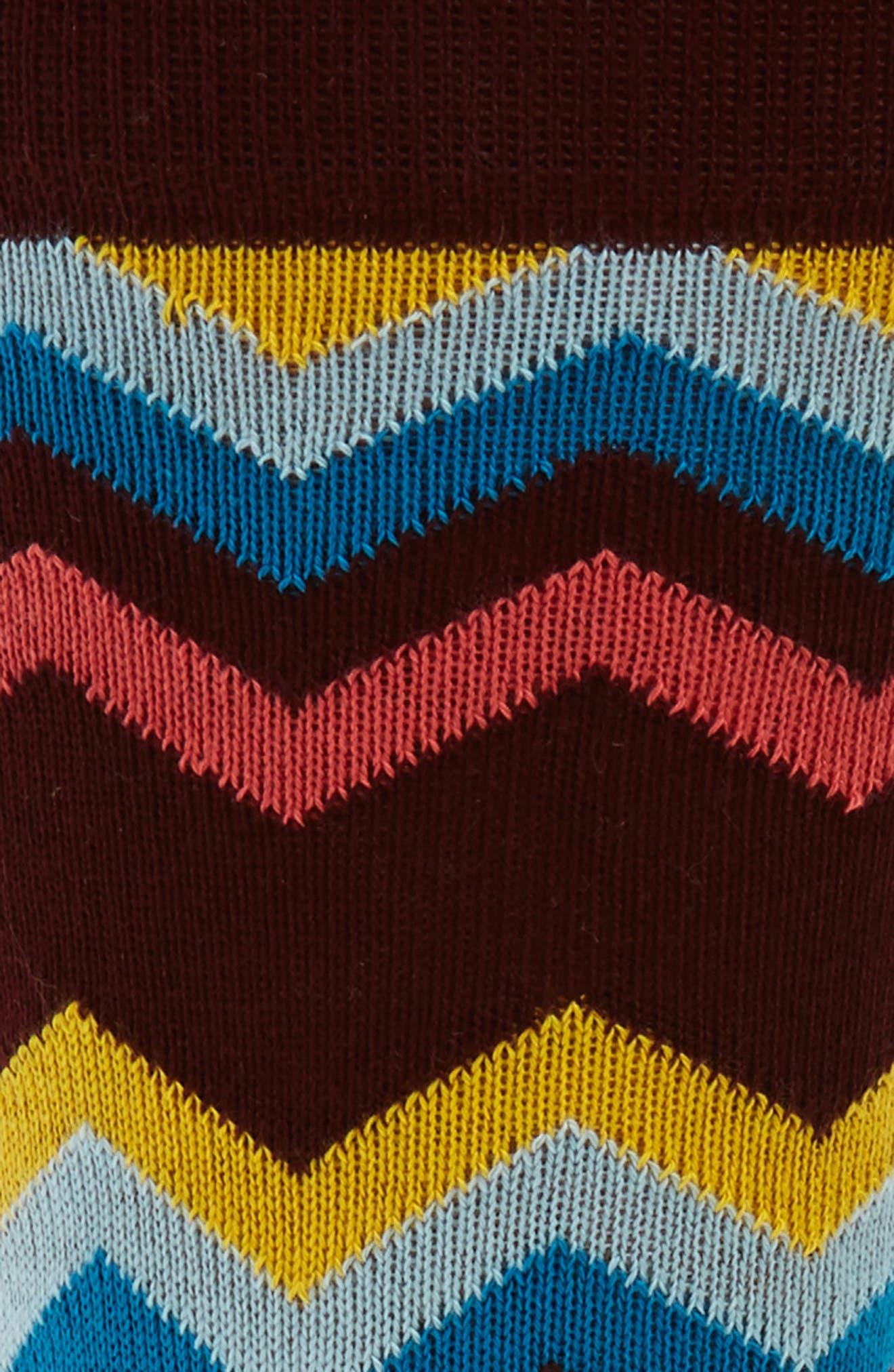 Fleet Chevron Socks,                             Alternate thumbnail 2, color,                             001