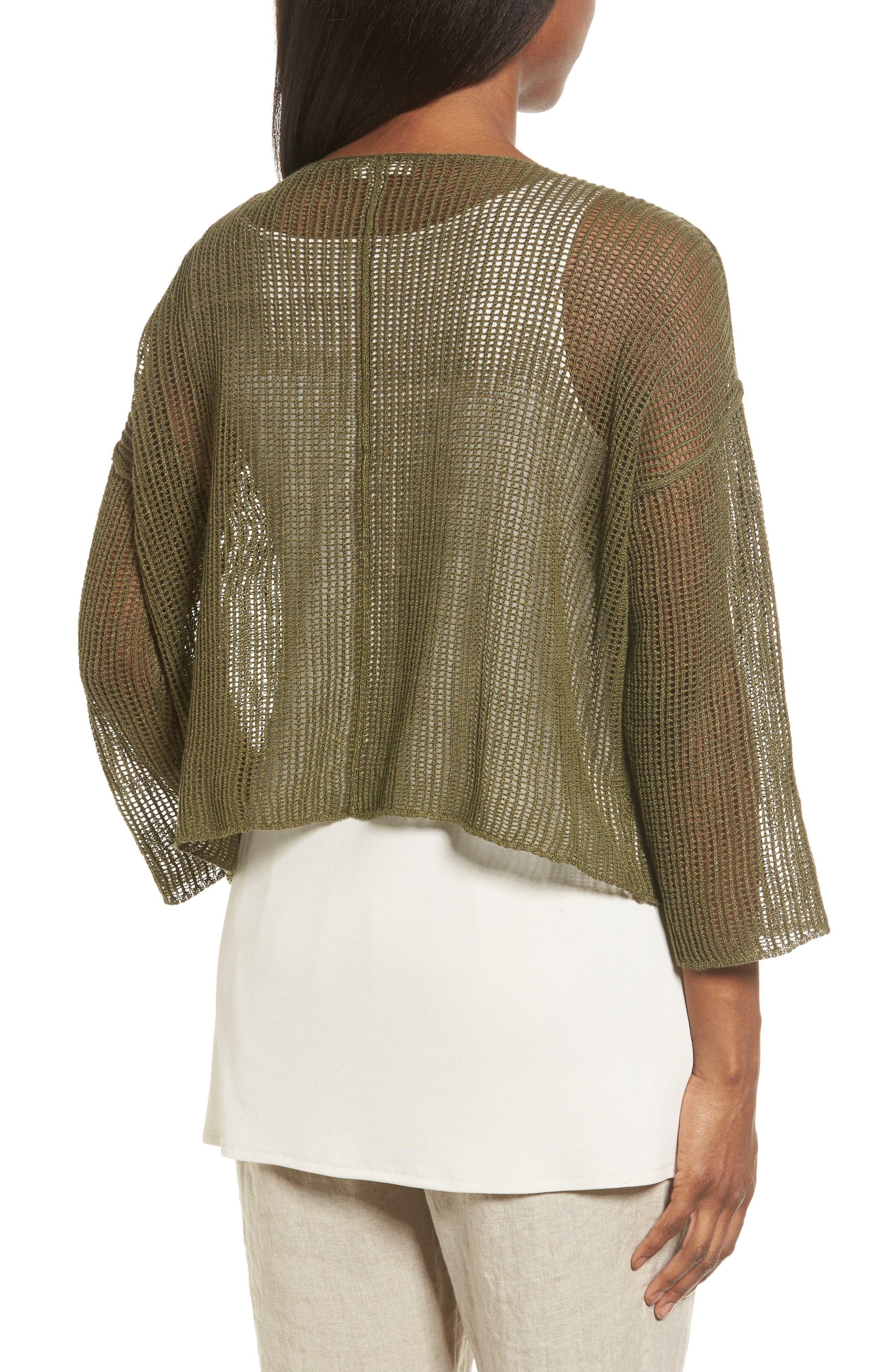 Organic Linen Crop Sweater,                             Alternate thumbnail 8, color,