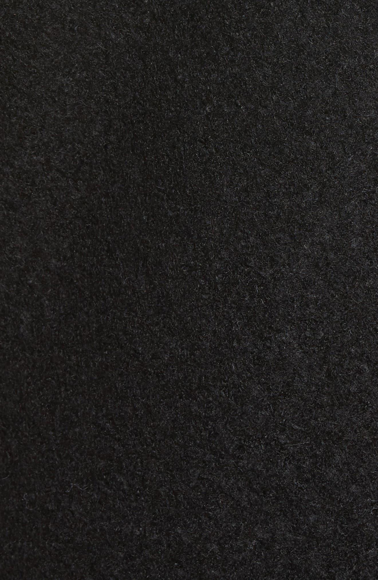Wool Blend Bouclé Coat,                             Alternate thumbnail 6, color,                             BLACK