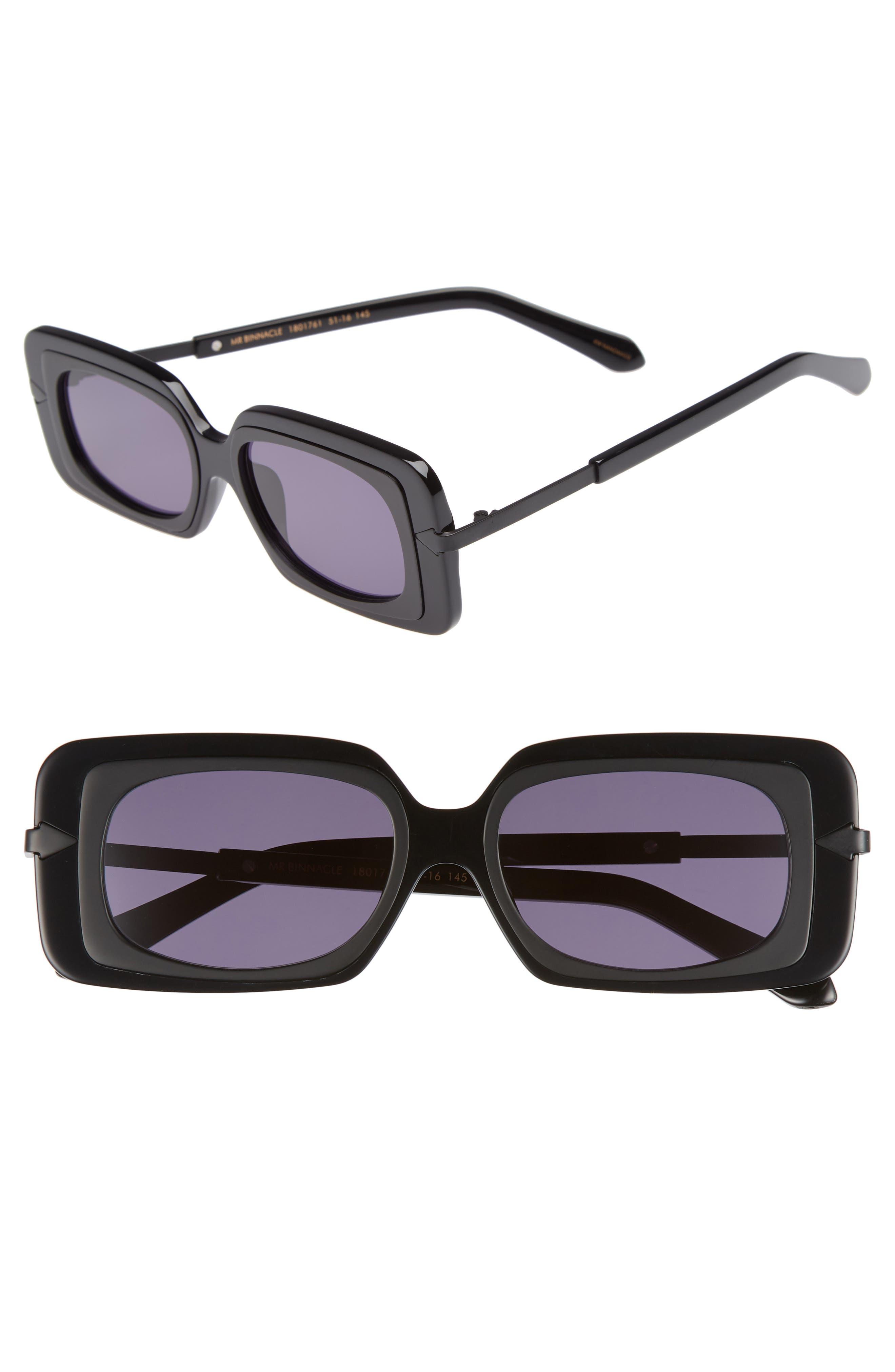 KAREN WALKER Mr. Binnacle 51mm Sunglasses, Main, color, 001