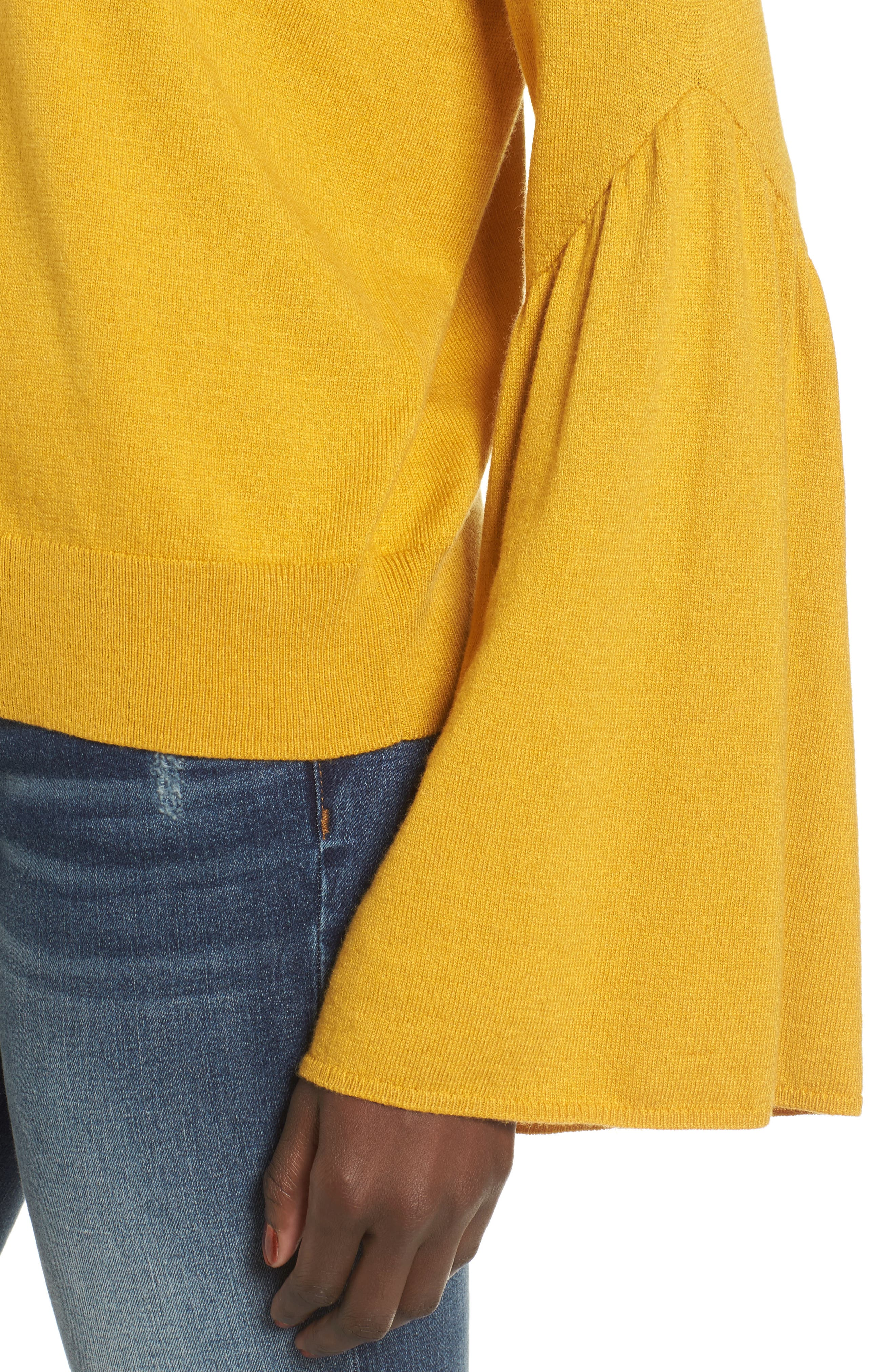 LEITH,                             Bell Sleeve Sweater,                             Alternate thumbnail 4, color,                             700