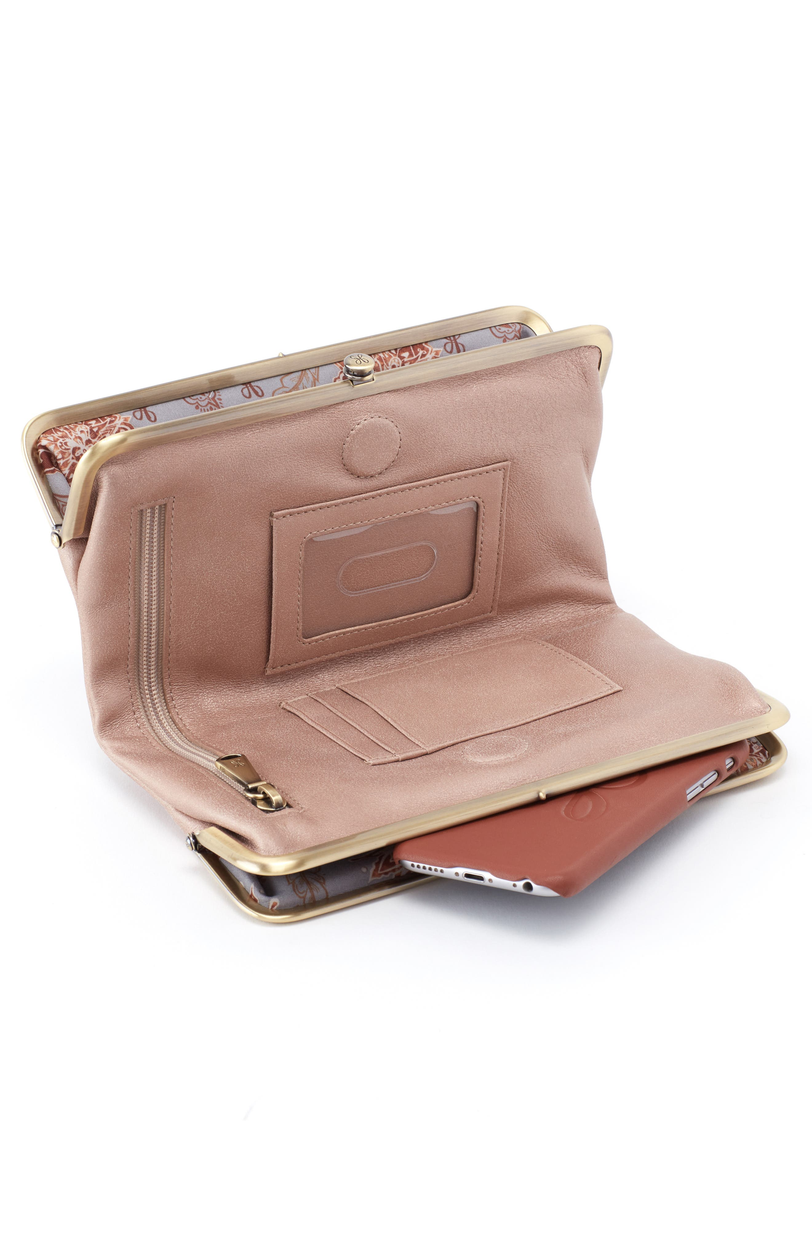HOBO,                             Lauren Double Frame Clutch,                             Alternate thumbnail 3, color,                             TWILIGHT