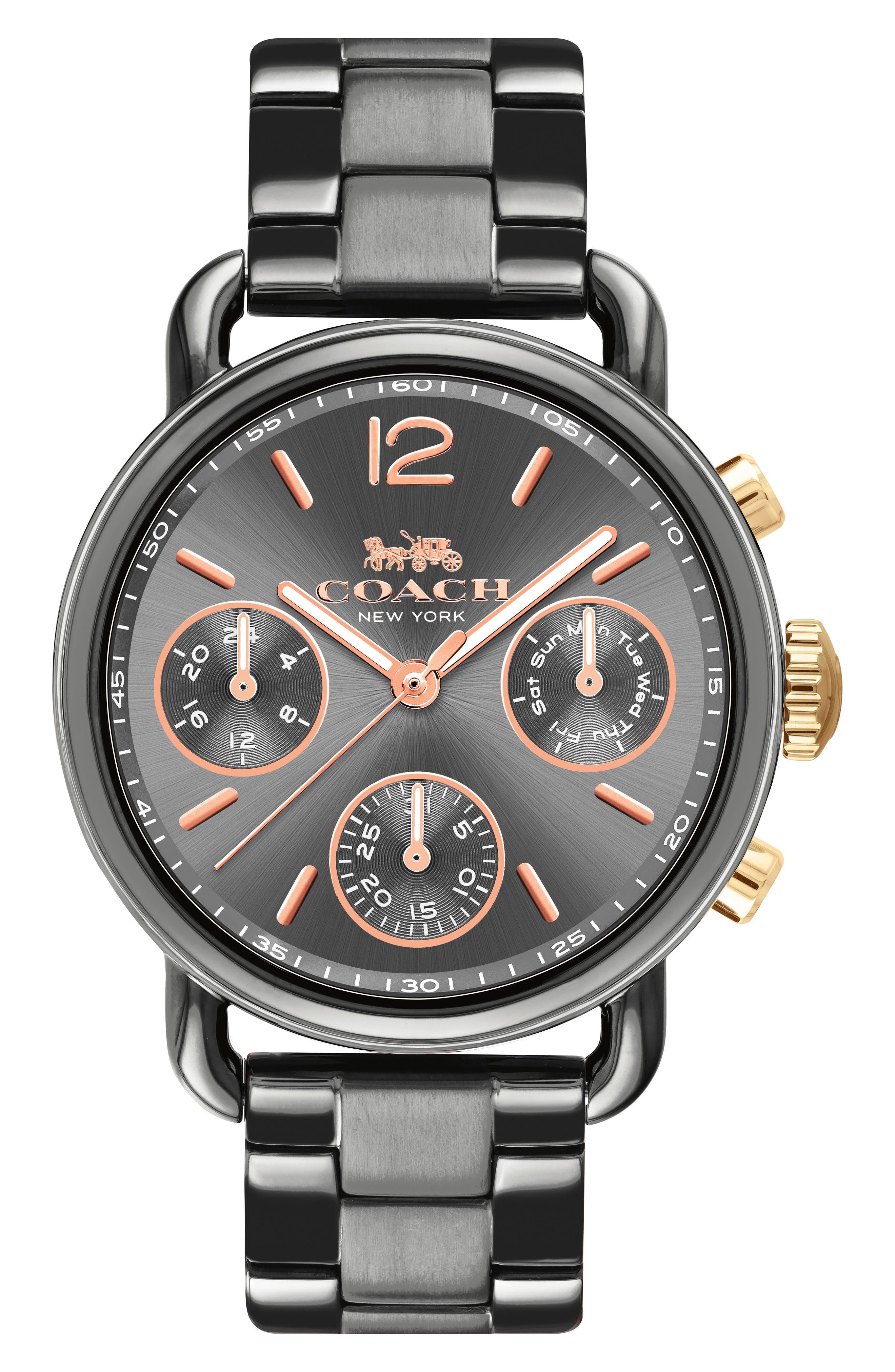 Delancey Sport Chronograph Bracelet Watch, 36mm,                             Main thumbnail 1, color,                             GREY