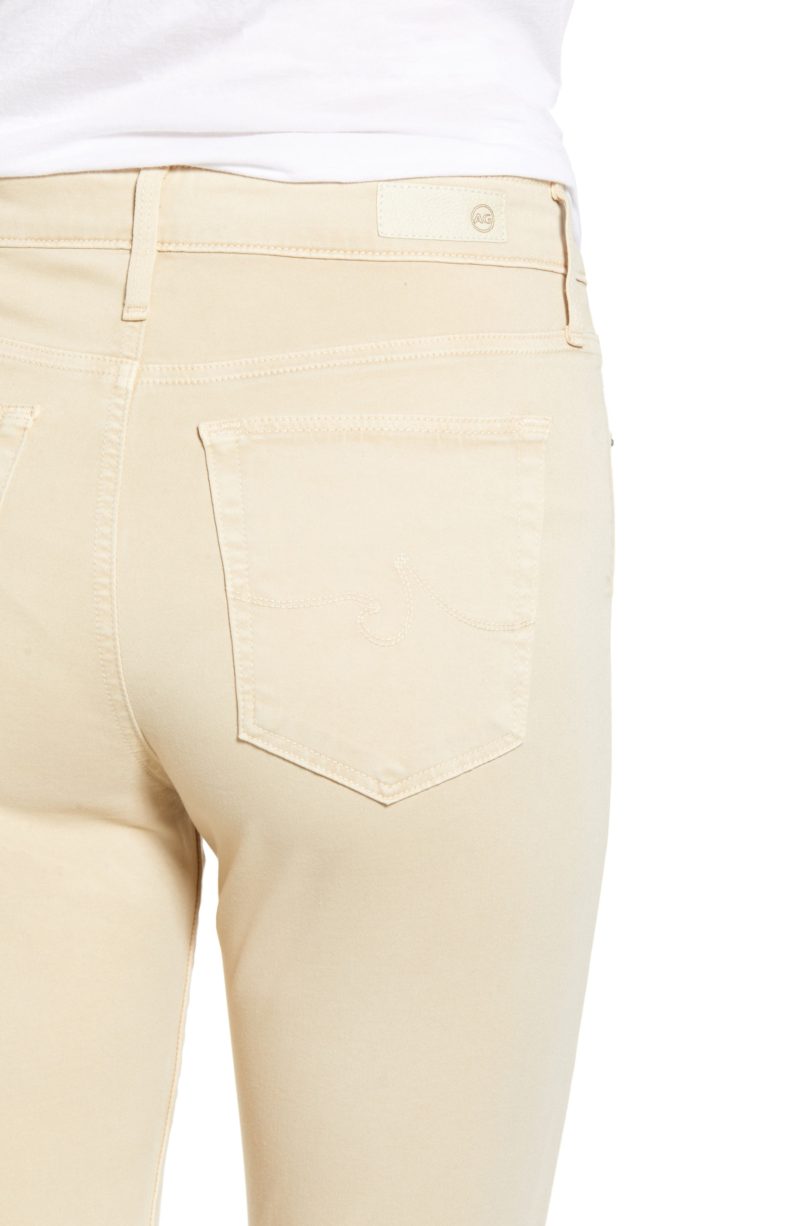 Farrah High Waist Ankle Skinny Jeans,                             Alternate thumbnail 4, color,                             SULFUR FRESH SAND