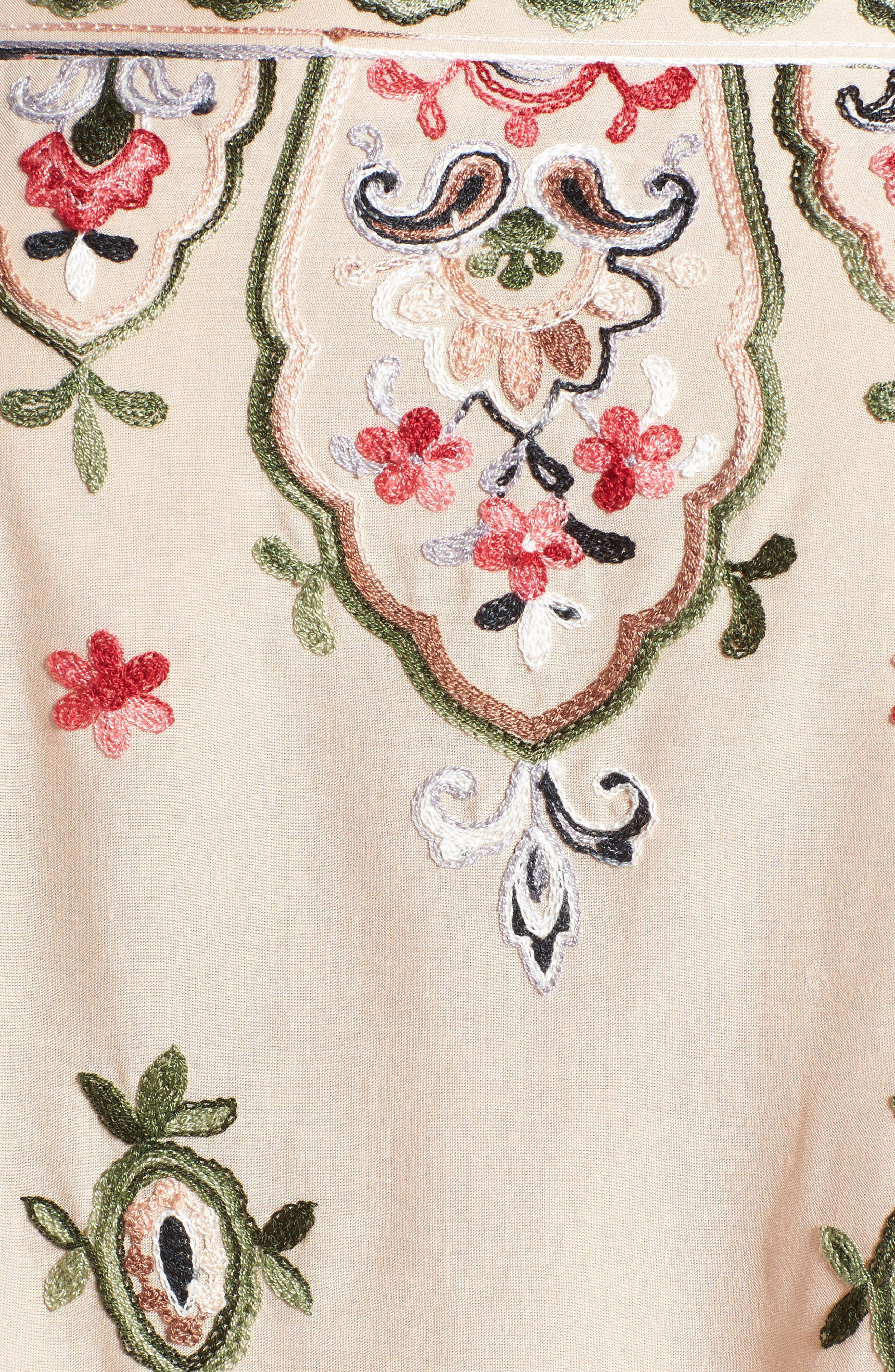 Embroidered Off the Shoulder Top,                             Alternate thumbnail 5, color,                             254