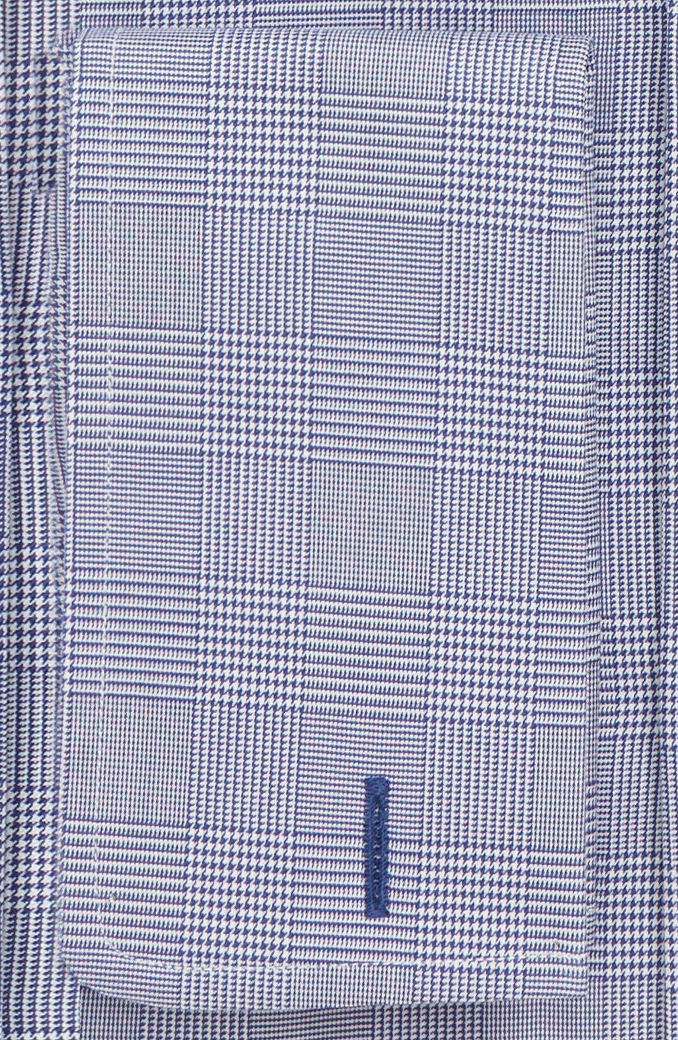 DAVID DONAHUE,                             Regular Fit Plaid Dress Shirt,                             Alternate thumbnail 2, color,                             NAVY