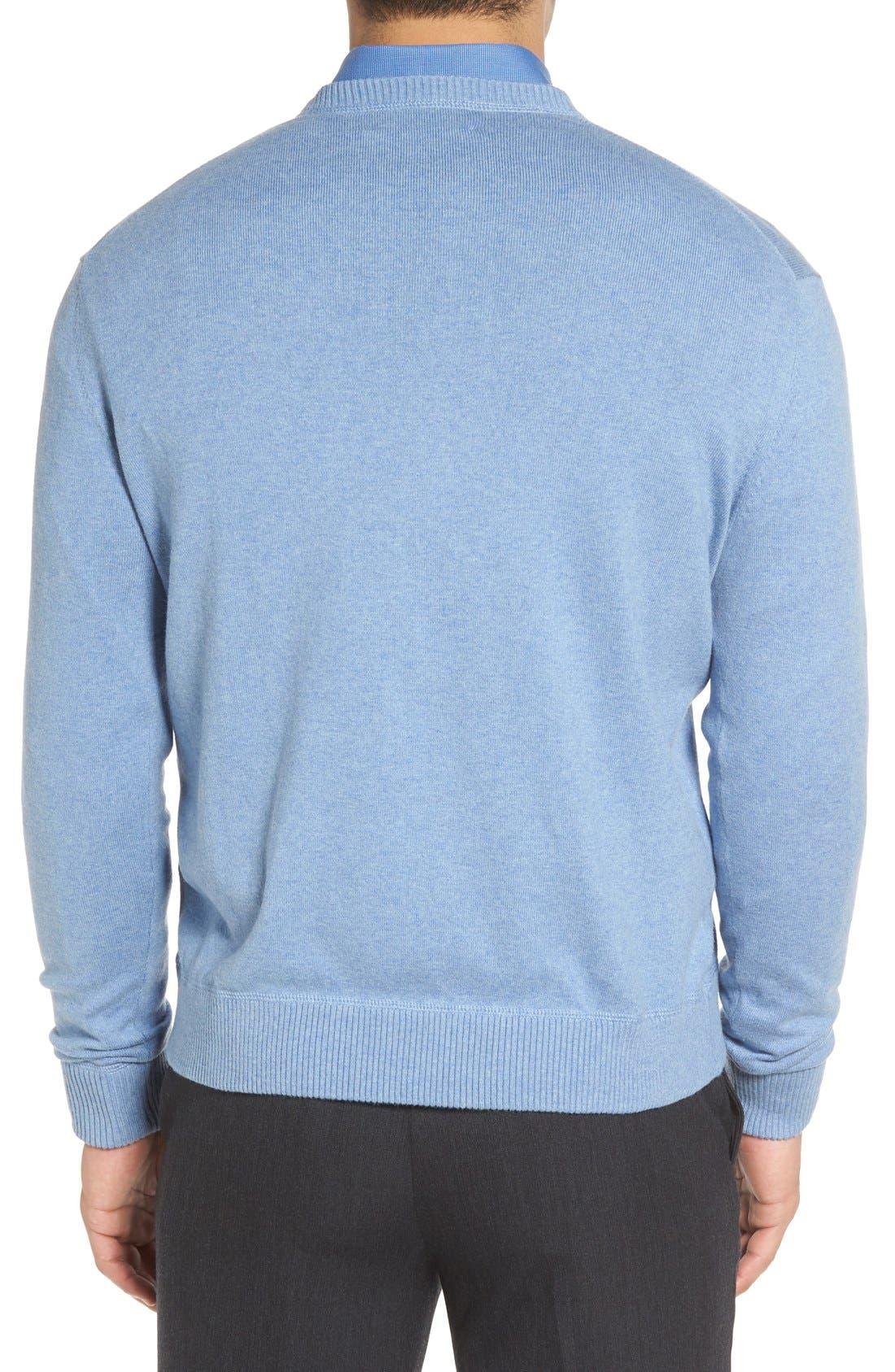 'Jersey Sport' Cotton Blend Crewneck Sweater,                             Alternate thumbnail 12, color,