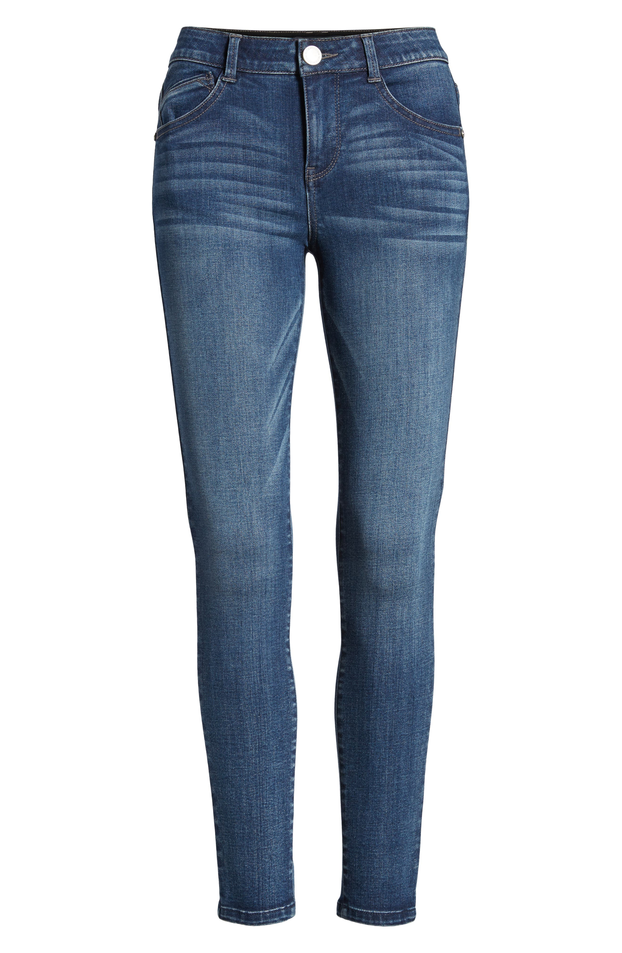 Ab-solution Ankle Skinny Jeans,                             Alternate thumbnail 7, color,                             BLUE