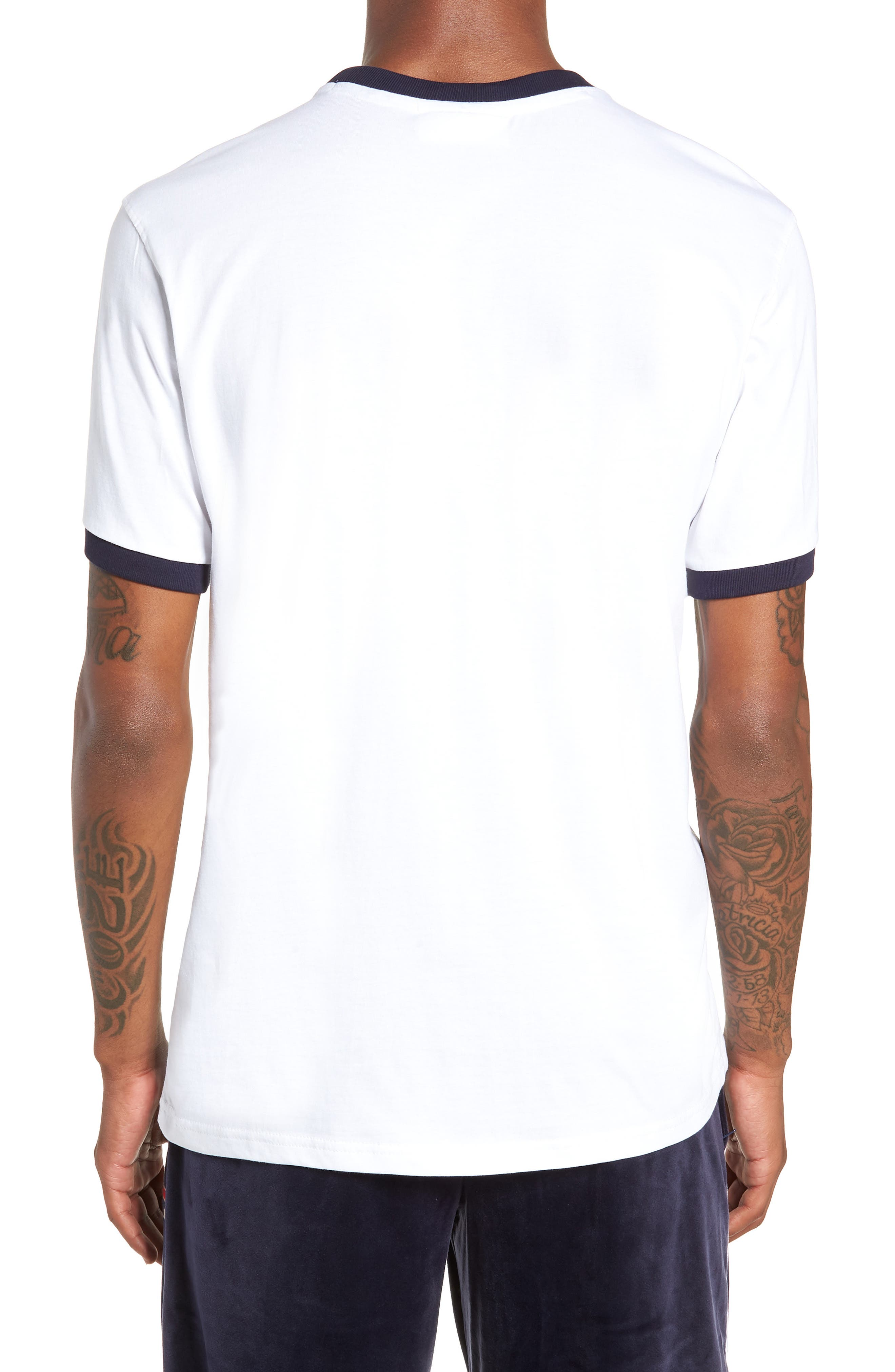 Roscoe Ringer T-Shirt,                             Alternate thumbnail 2, color,                             WHITE/ PEACOAT