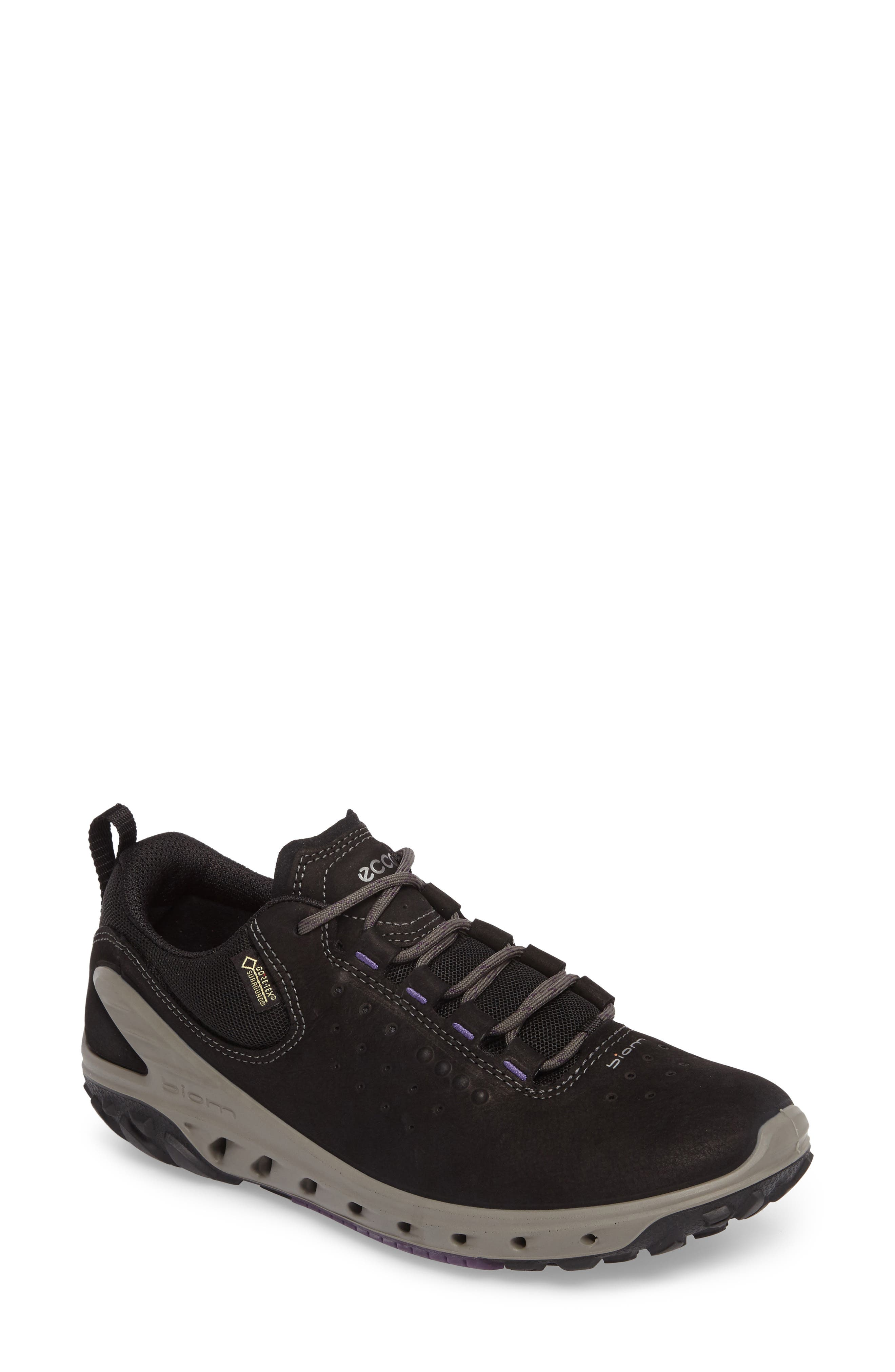 BIOM Venture GTX Sneaker,                         Main,                         color, BLACK LEATHER