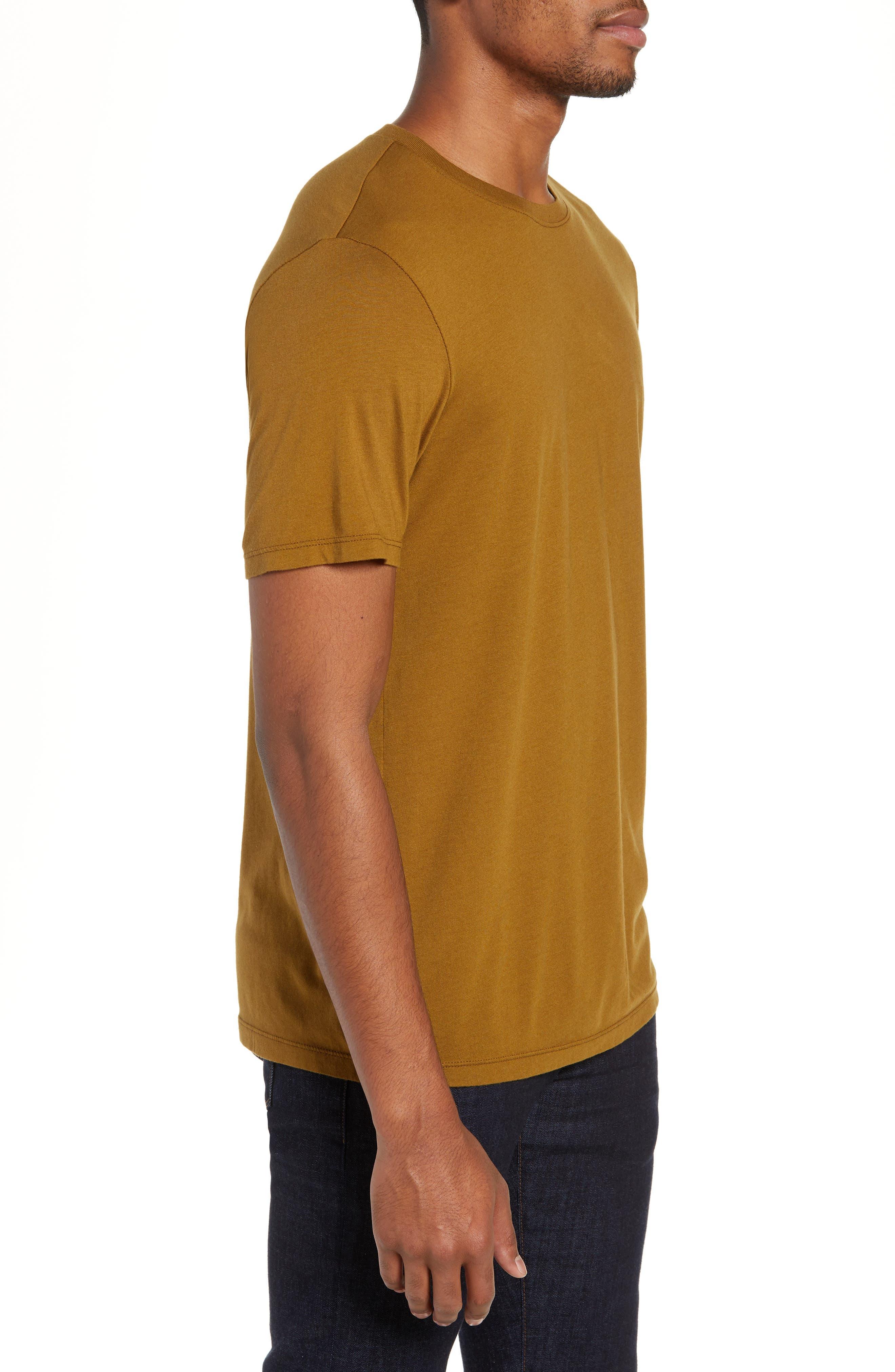 Bryce Slim Fit T-Shirt,                             Alternate thumbnail 3, color,                             GOLDEN OLIVE