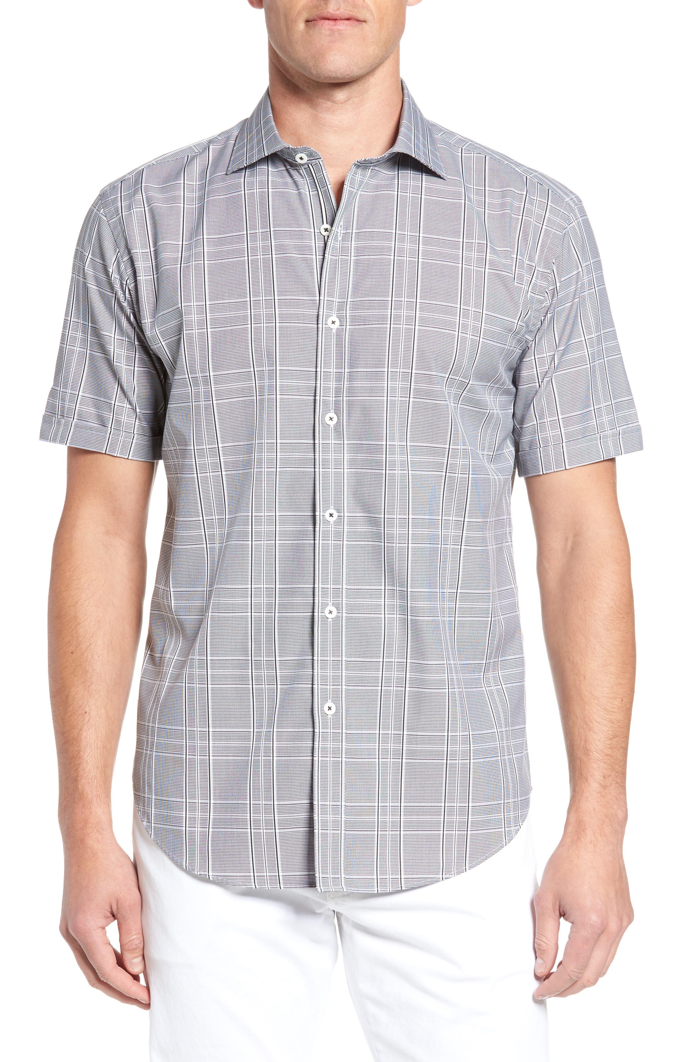 Shaped Fit Sport Shirt,                             Main thumbnail 1, color,                             001