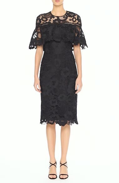 Lace Capelet Sheath Dress, video thumbnail