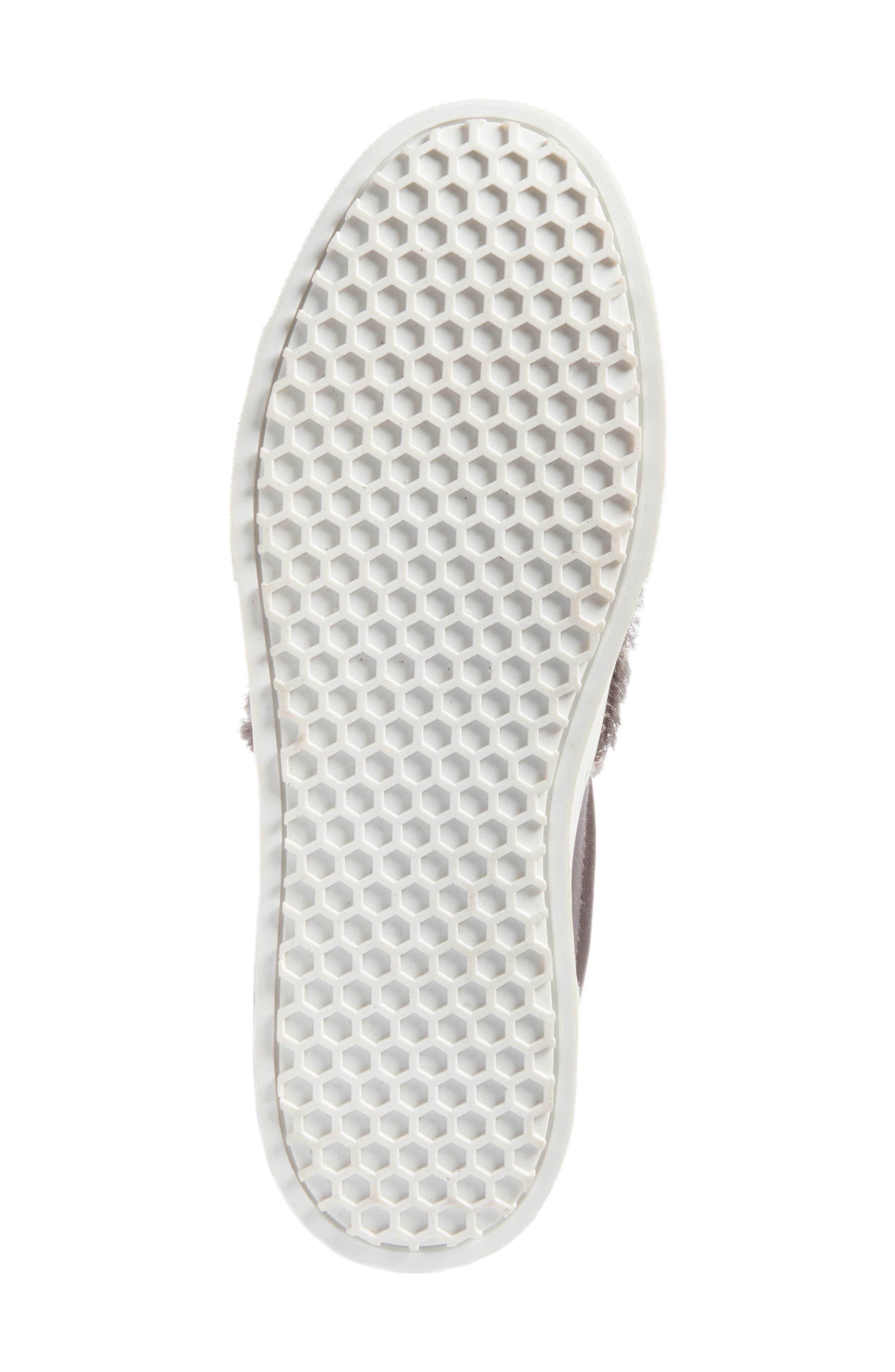 Levine Fringe Slip-On Platform Sneaker,                             Alternate thumbnail 6, color,                             020