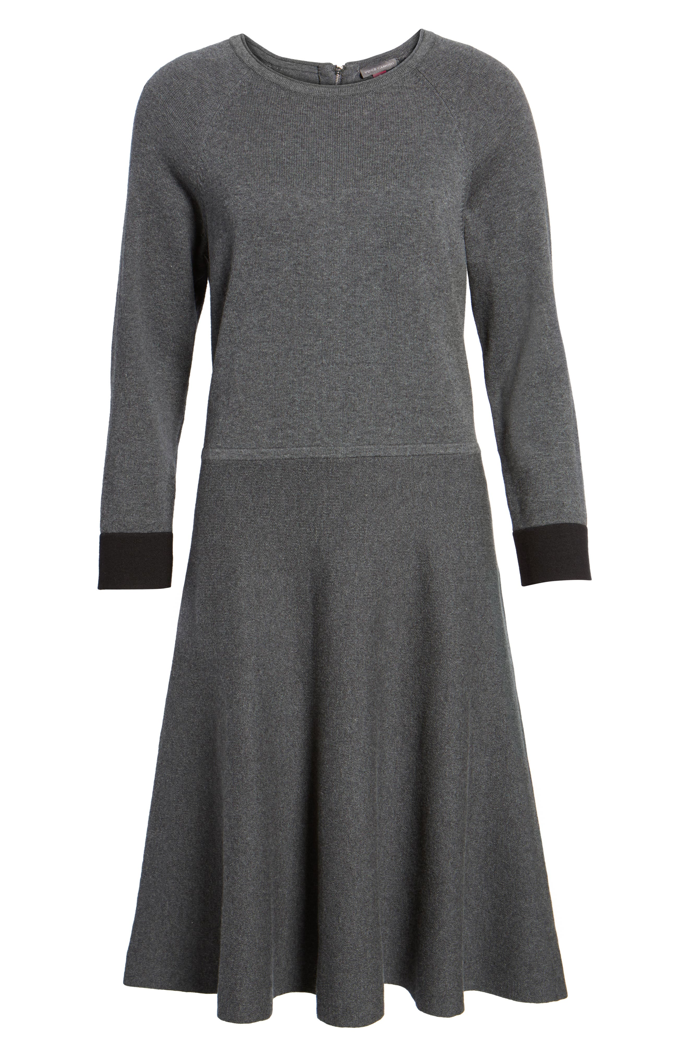 Fit & Flare Sweater Dress,                             Alternate thumbnail 6, color,                             023