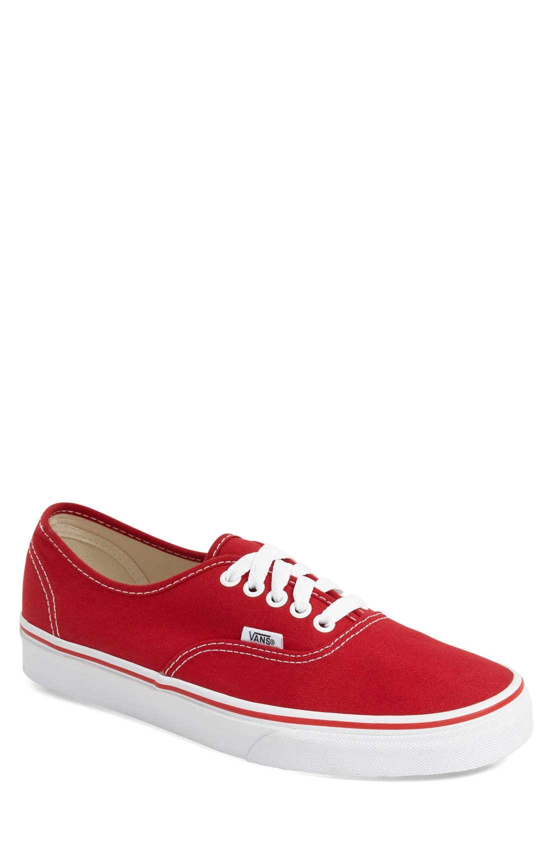 'Authentic' Sneaker,                         Main,                         color, RED