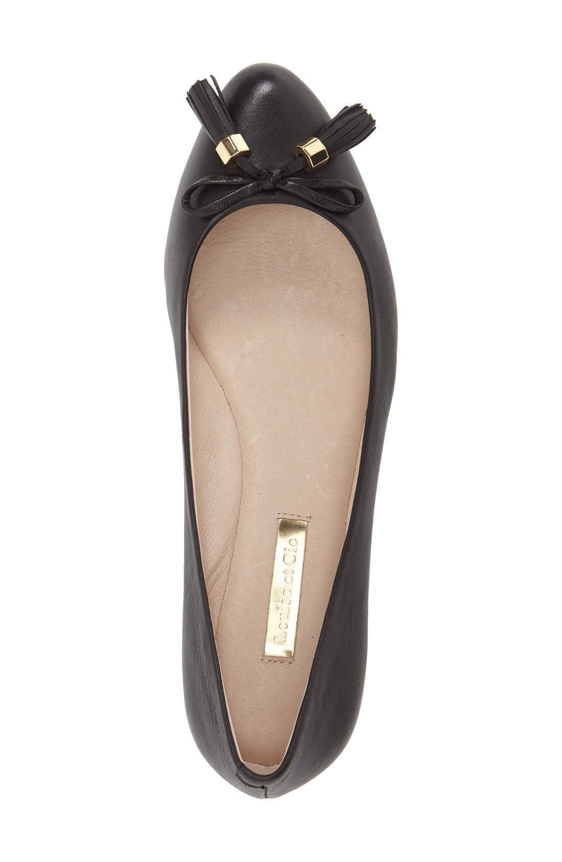 LOUISE ET CIE,                             'Aradella' Genuine Calf Hair Pointy Toe Flat,                             Alternate thumbnail 2, color,                             002