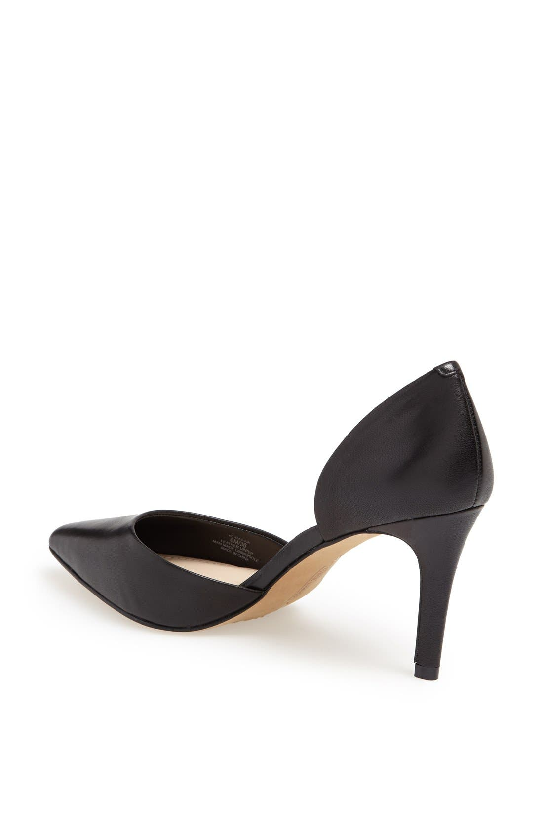 'Raccia' Pointy Toe d'Orsay Pump,                             Alternate thumbnail 2, color,                             001
