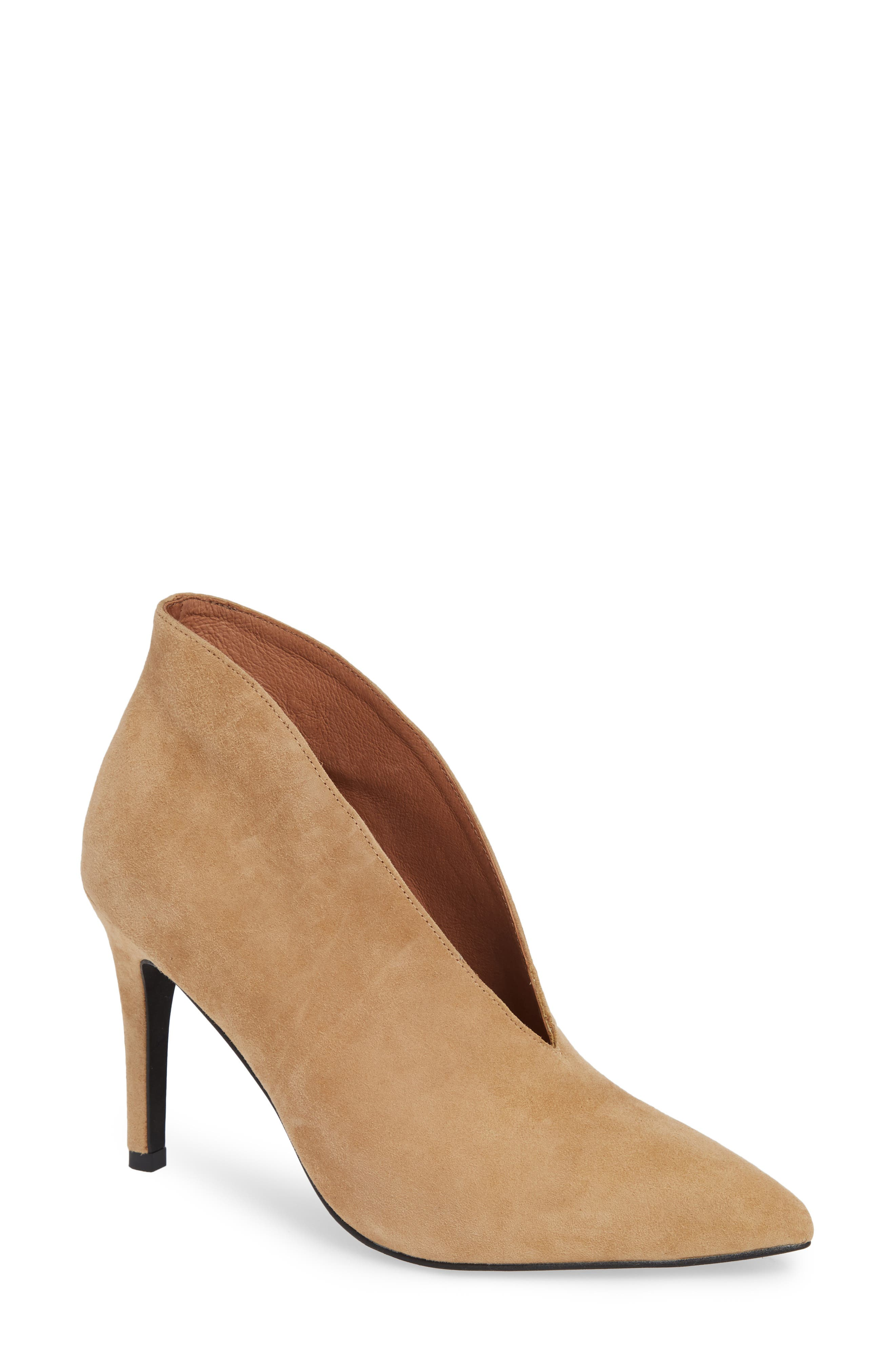Electron Bootie,                             Main thumbnail 1, color,                             NUDE SUEDE