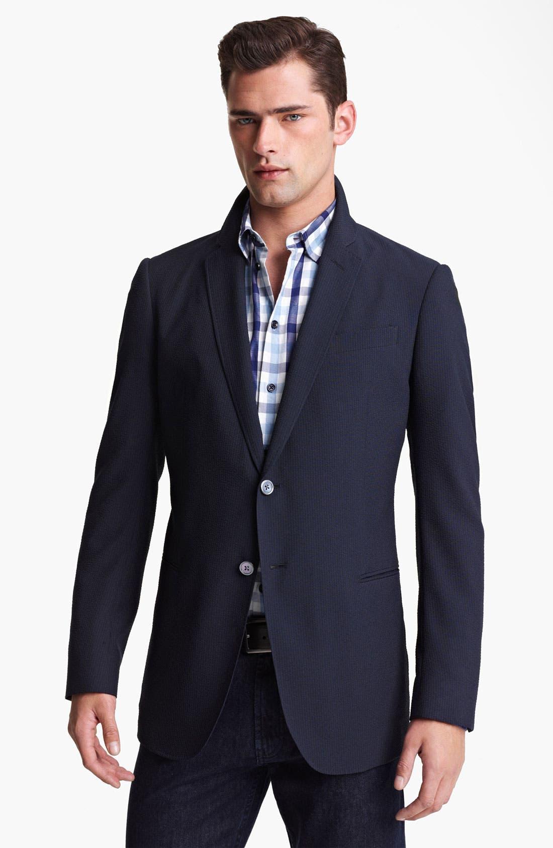 Armani Collezioni Seersucker Sportcoat,                         Main,                         color, 404