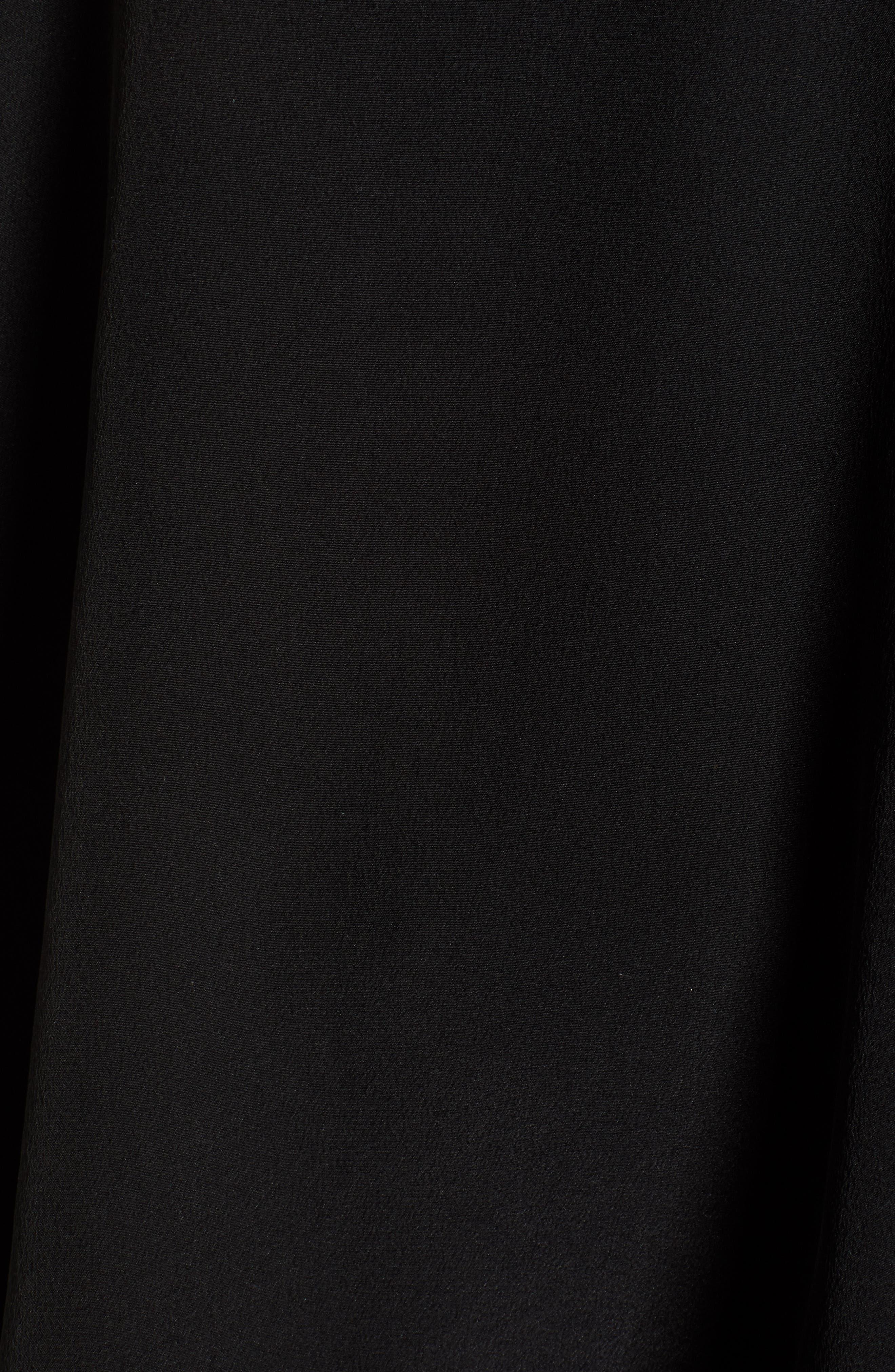 Christy Deluxe Lace Silk Camisole,                             Alternate thumbnail 5, color,                             NOIR