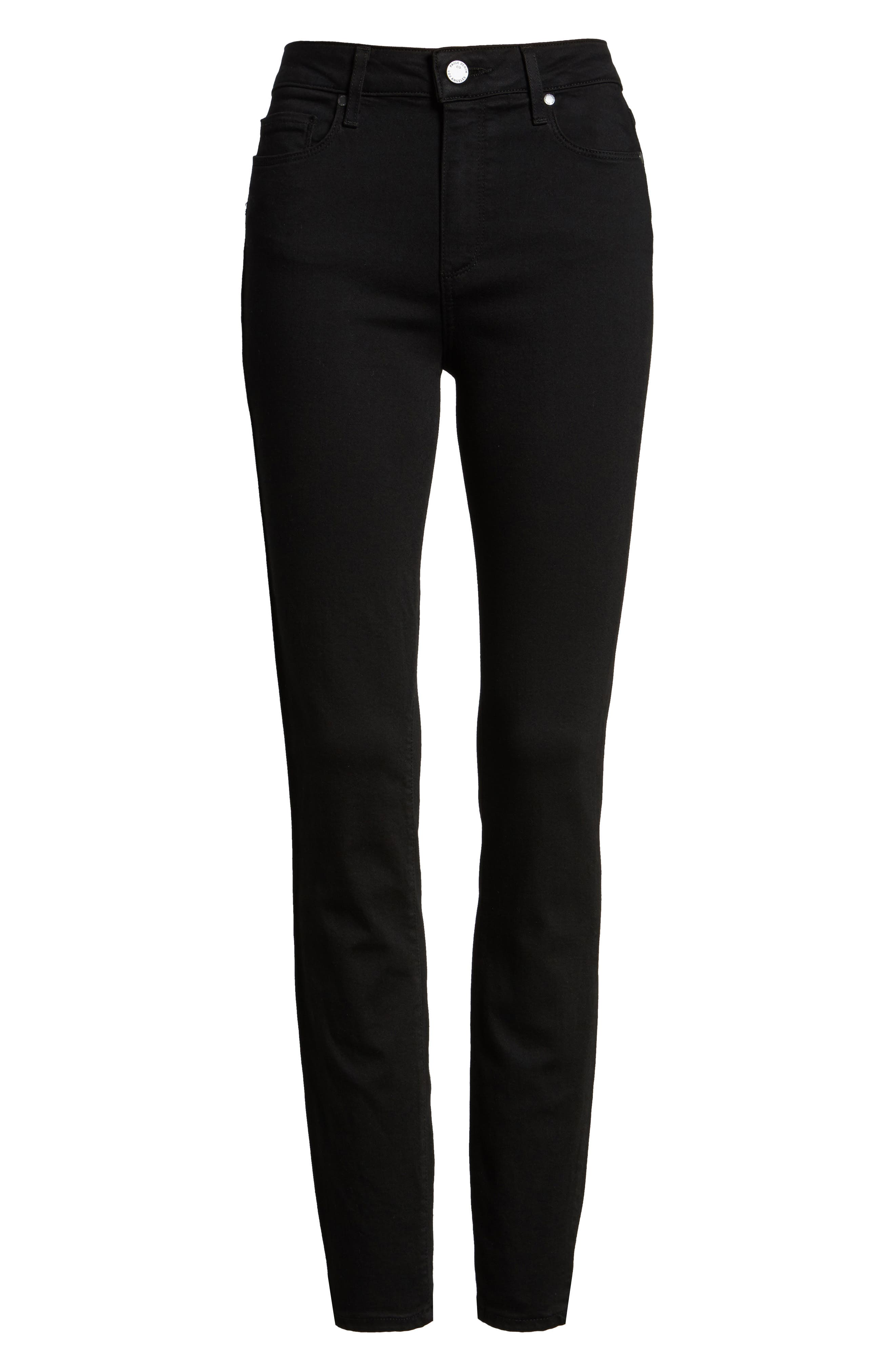 Transcend - Hoxton High Waist Ultra Skinny Stretch Jeans,                             Alternate thumbnail 3, color,                             BLACK SHADOW