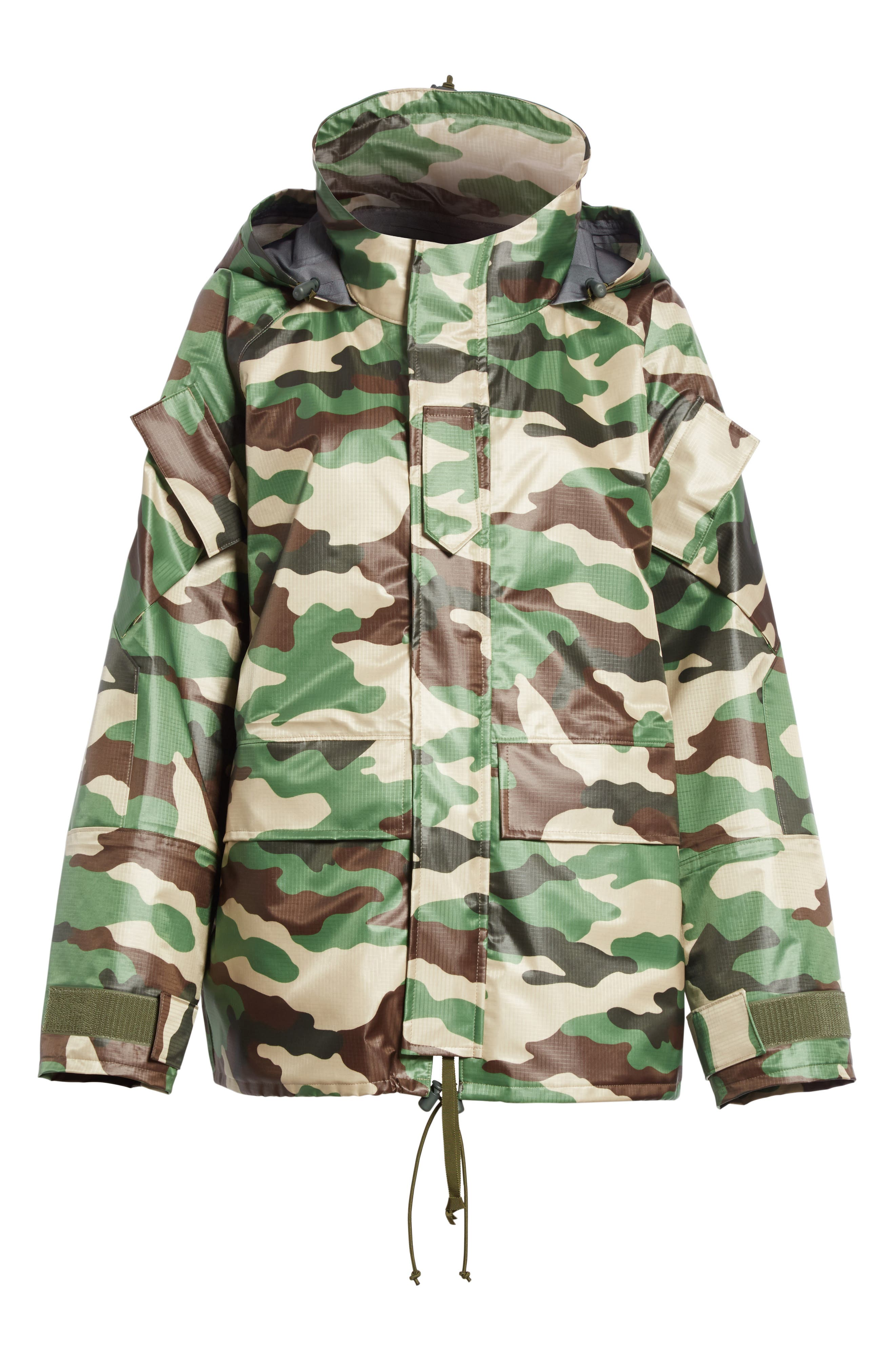 Camo Nylon Jacket,                             Alternate thumbnail 5, color,                             300