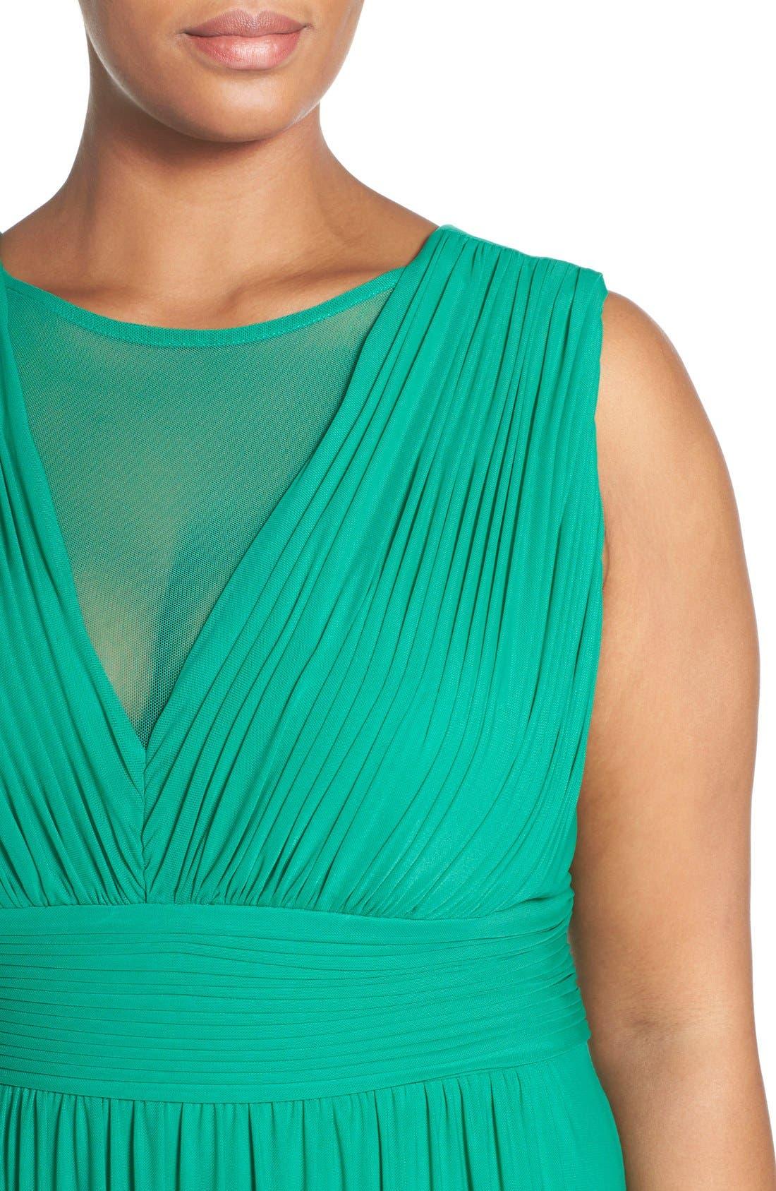 Illusion Neck A-Line Gown,                             Alternate thumbnail 18, color,