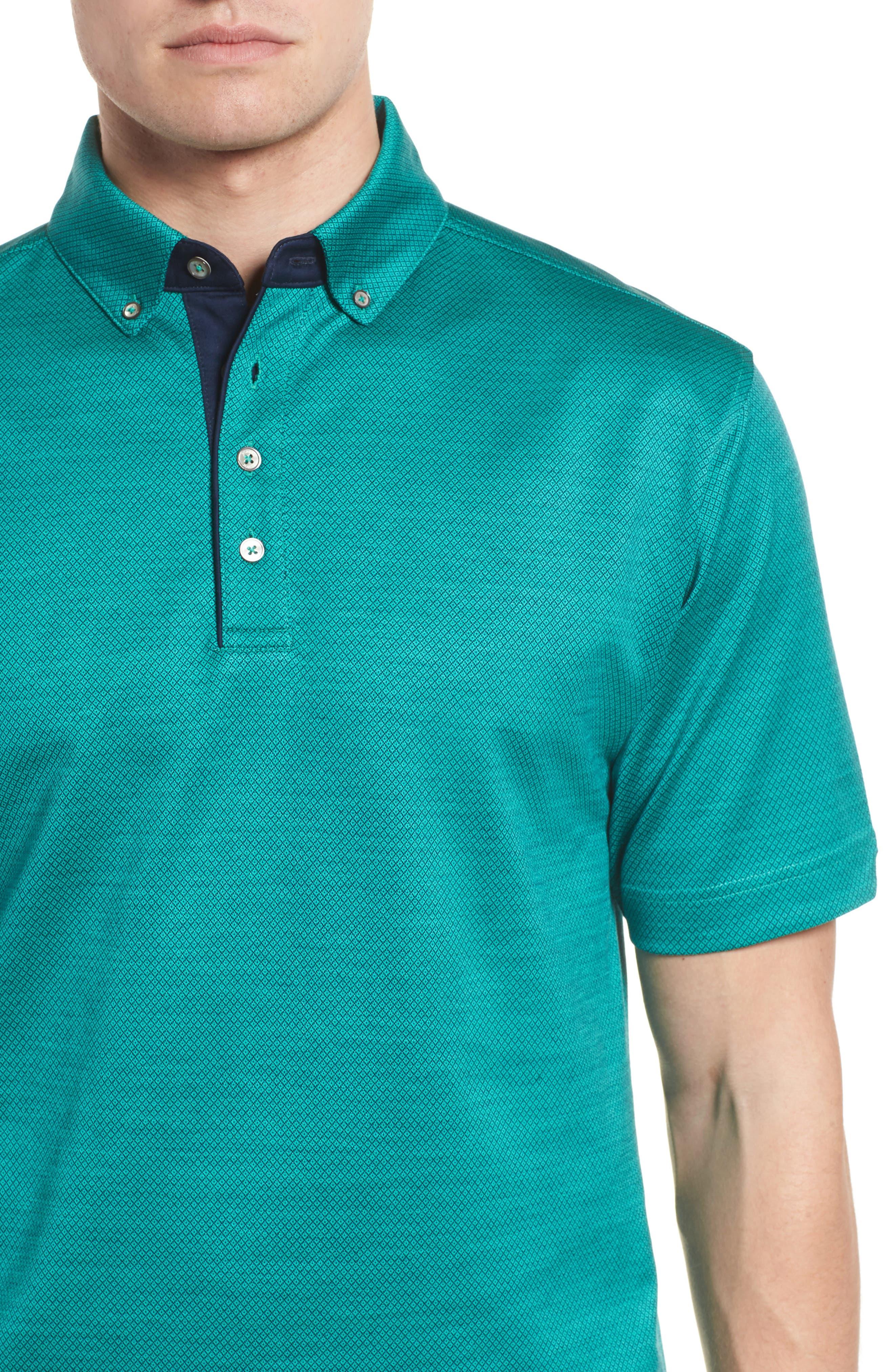 Mercerized Cotton Jacquard Polo,                             Alternate thumbnail 13, color,