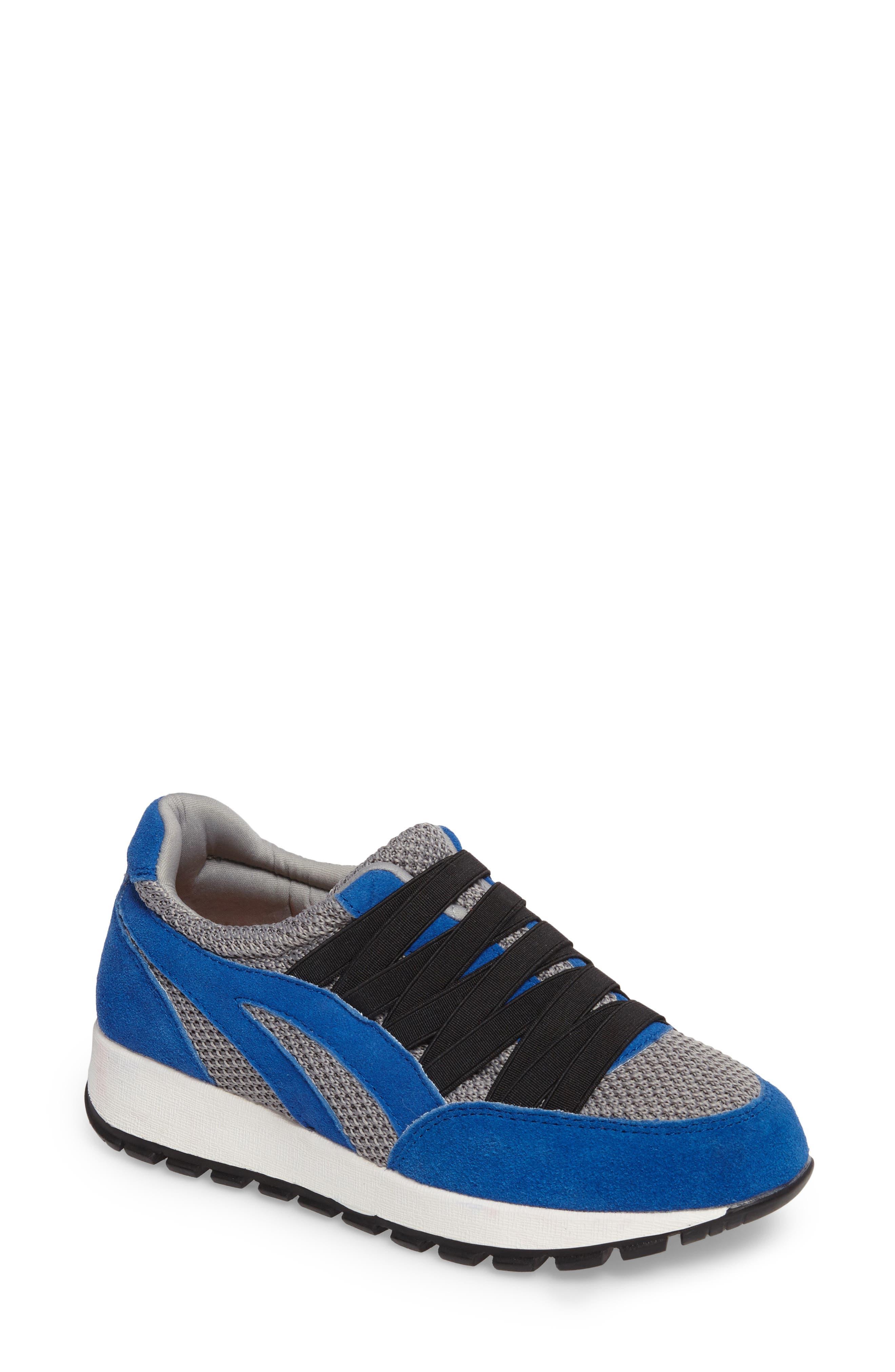 Bernie Mev Tara Cano Sneaker,                             Main thumbnail 1, color,                             ROYAL BLUE/ GREY FABRIC