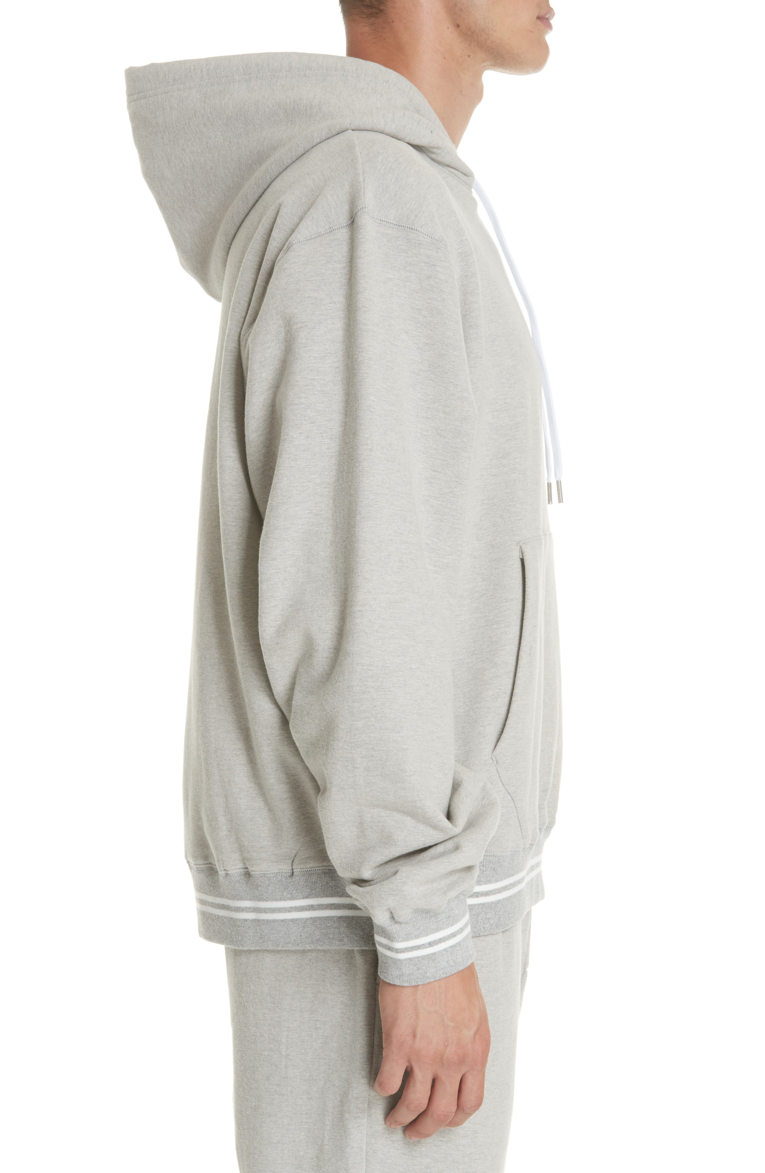 Oversize Hoodie,                             Alternate thumbnail 3, color,                             HEATHER GREY