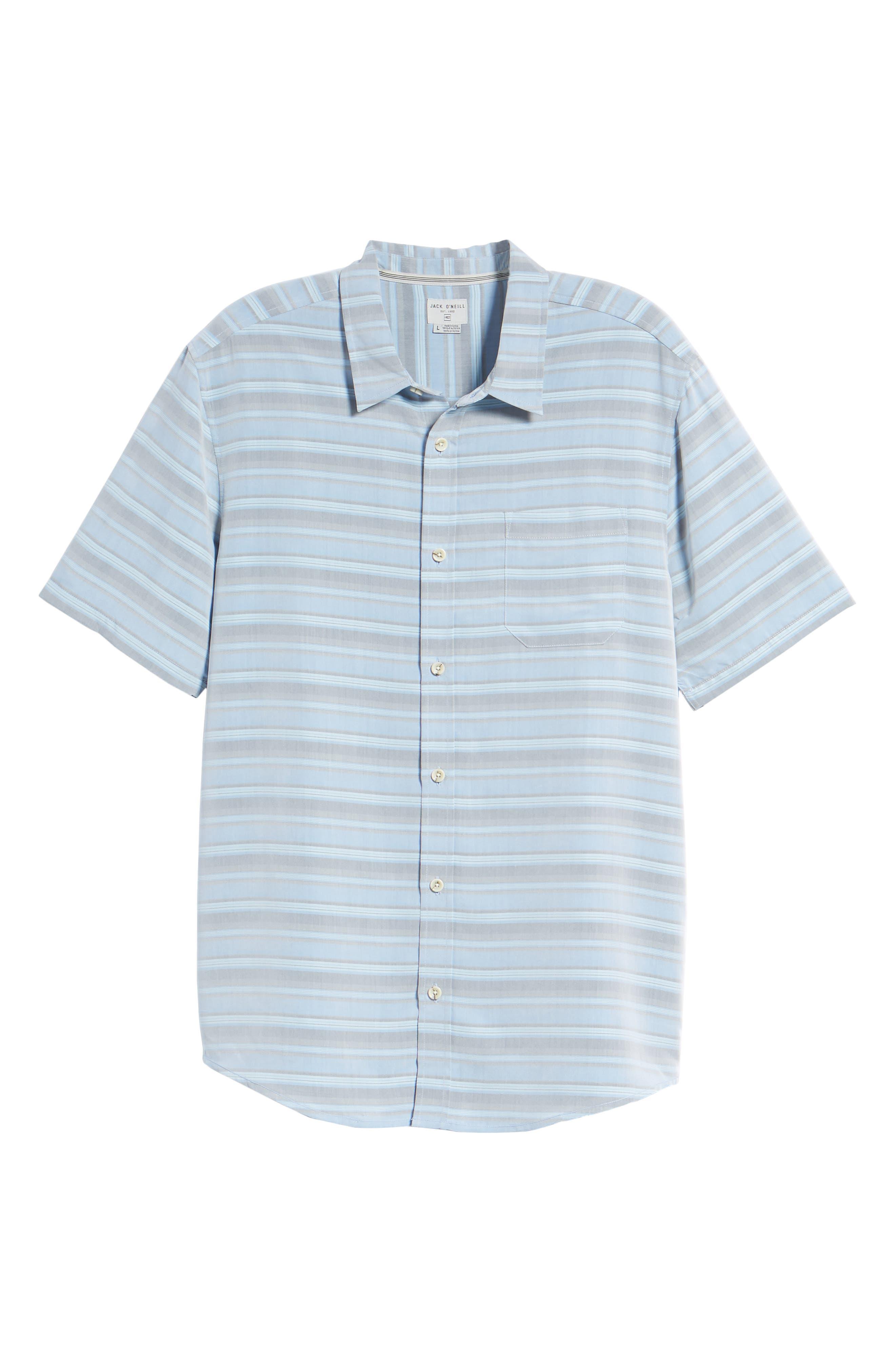 Tubes Regular Fit Short Sleeve Sport Shirt,                             Alternate thumbnail 6, color,                             COBALT